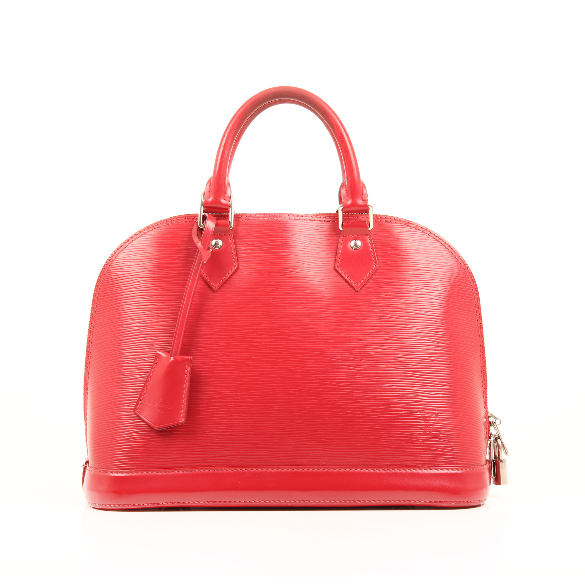 handbag louis vuitton alma pm red epi front