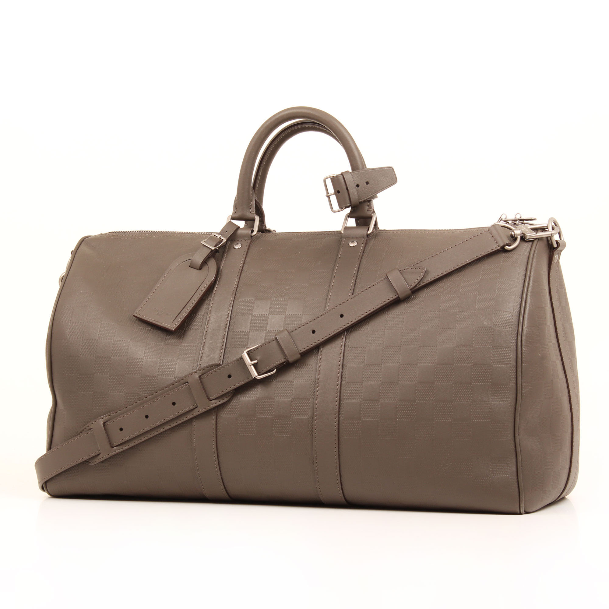 Strap and general image of louis vuitton keepall 45 damier infini bag