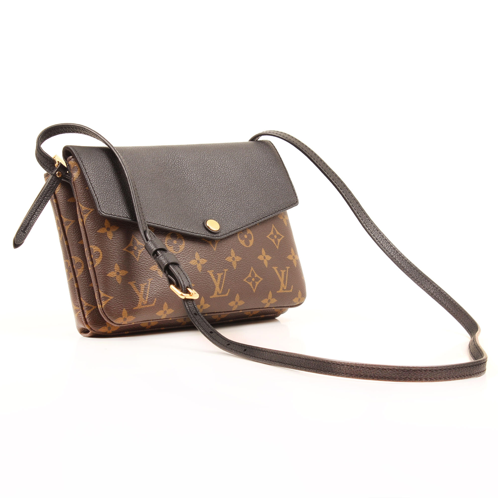 Louis Vuitton Twice Crossbody Bag Monogram Macassar General