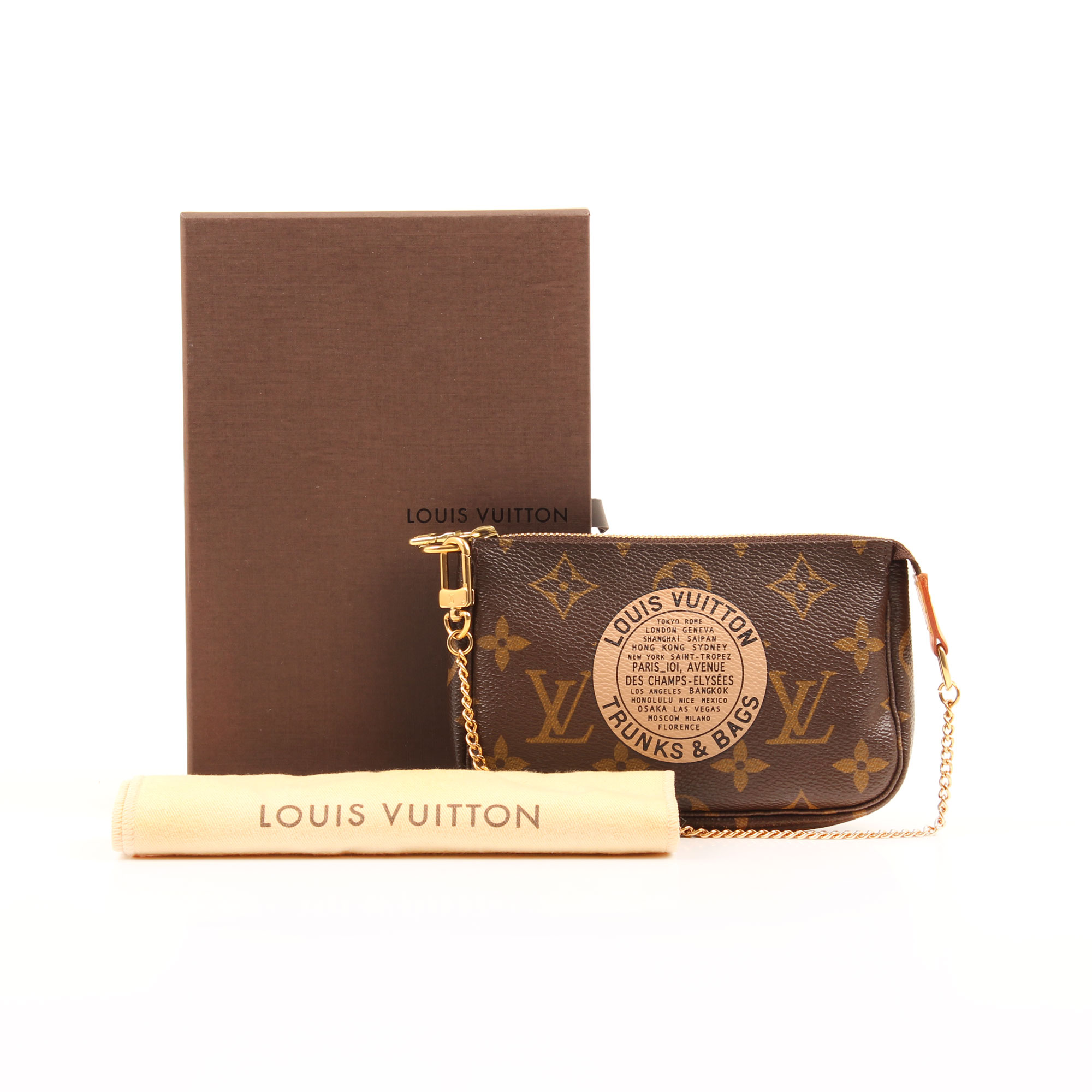 louis vuitton mini pochette accesoires bags trunks monogram caja funda