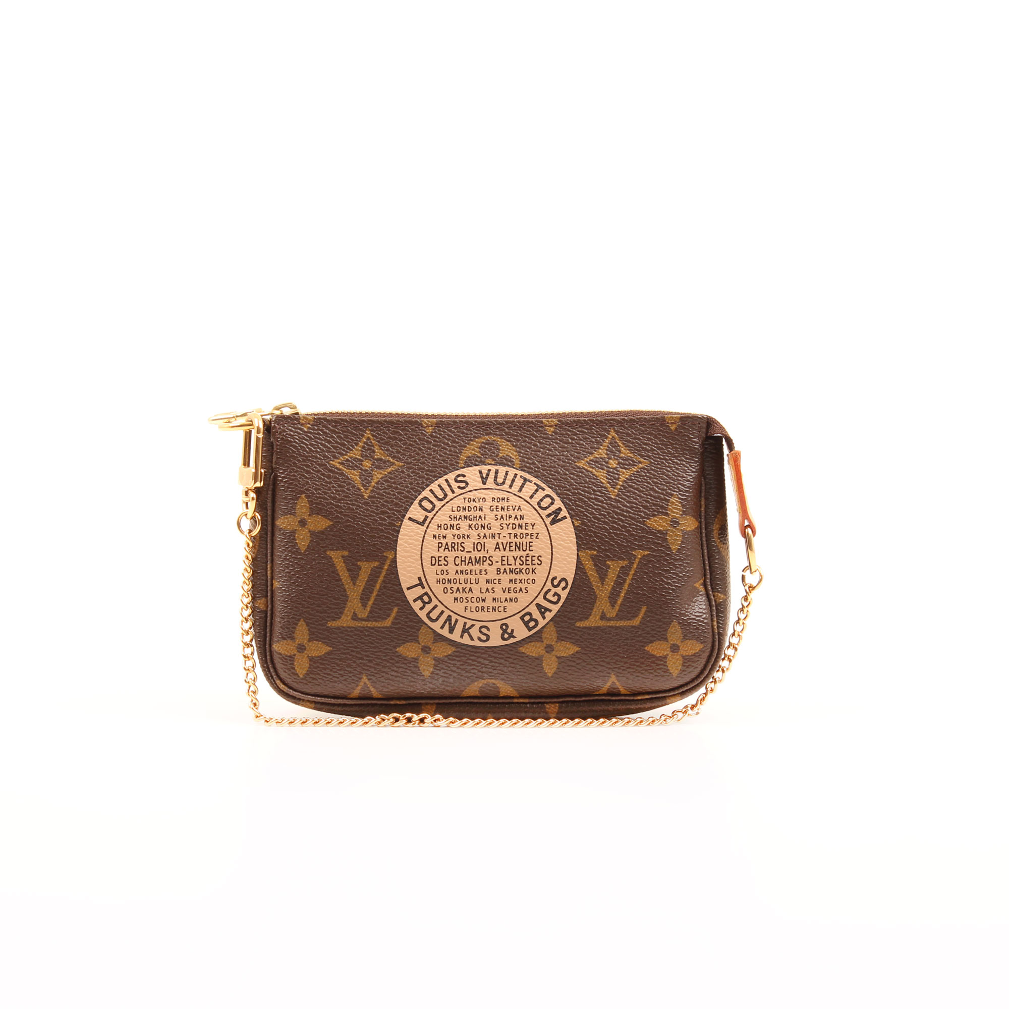 louis vuitton mini pochette accesoires bags trunks monogram frontal