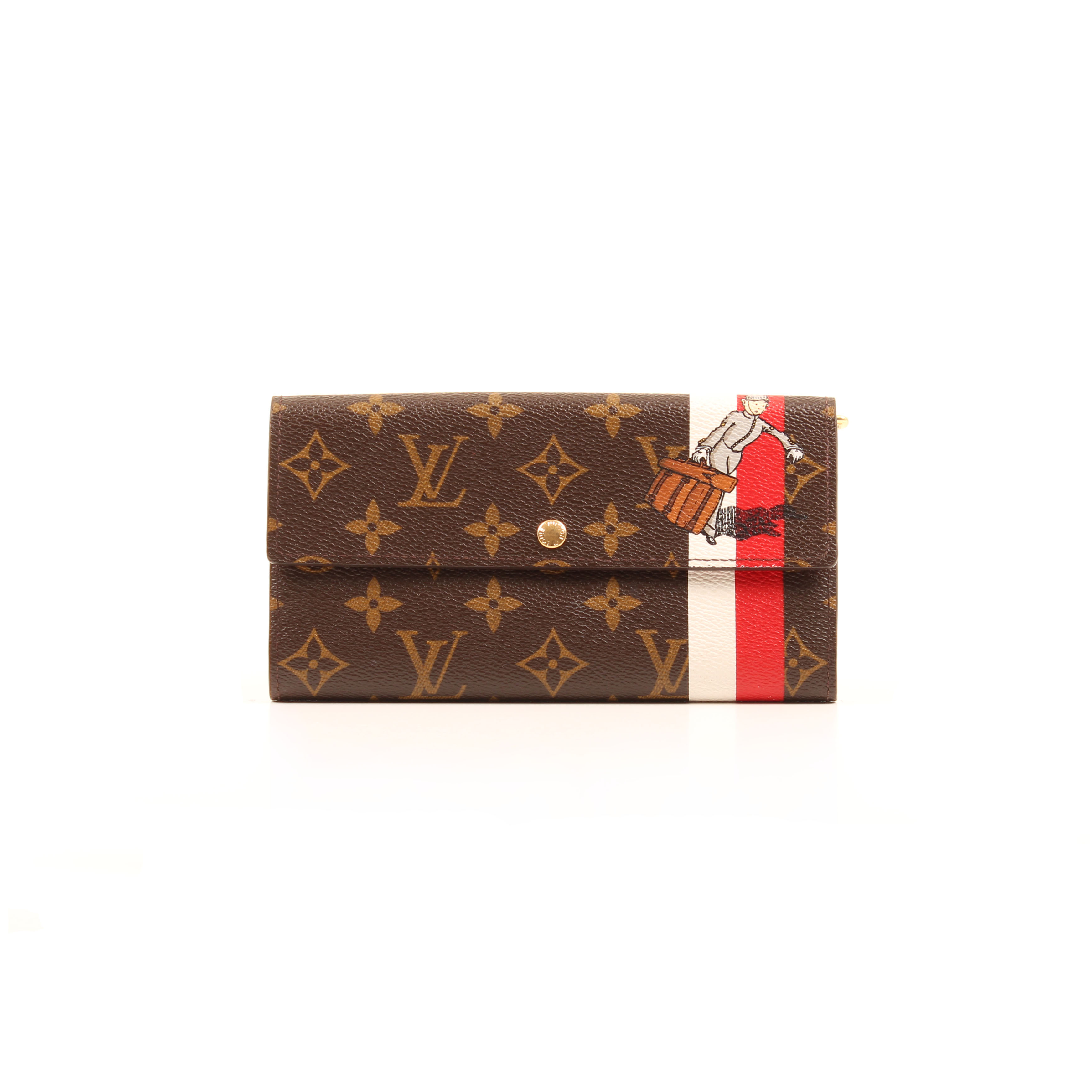 louis vuitton sarah groom wallet limited edition monogram frontal