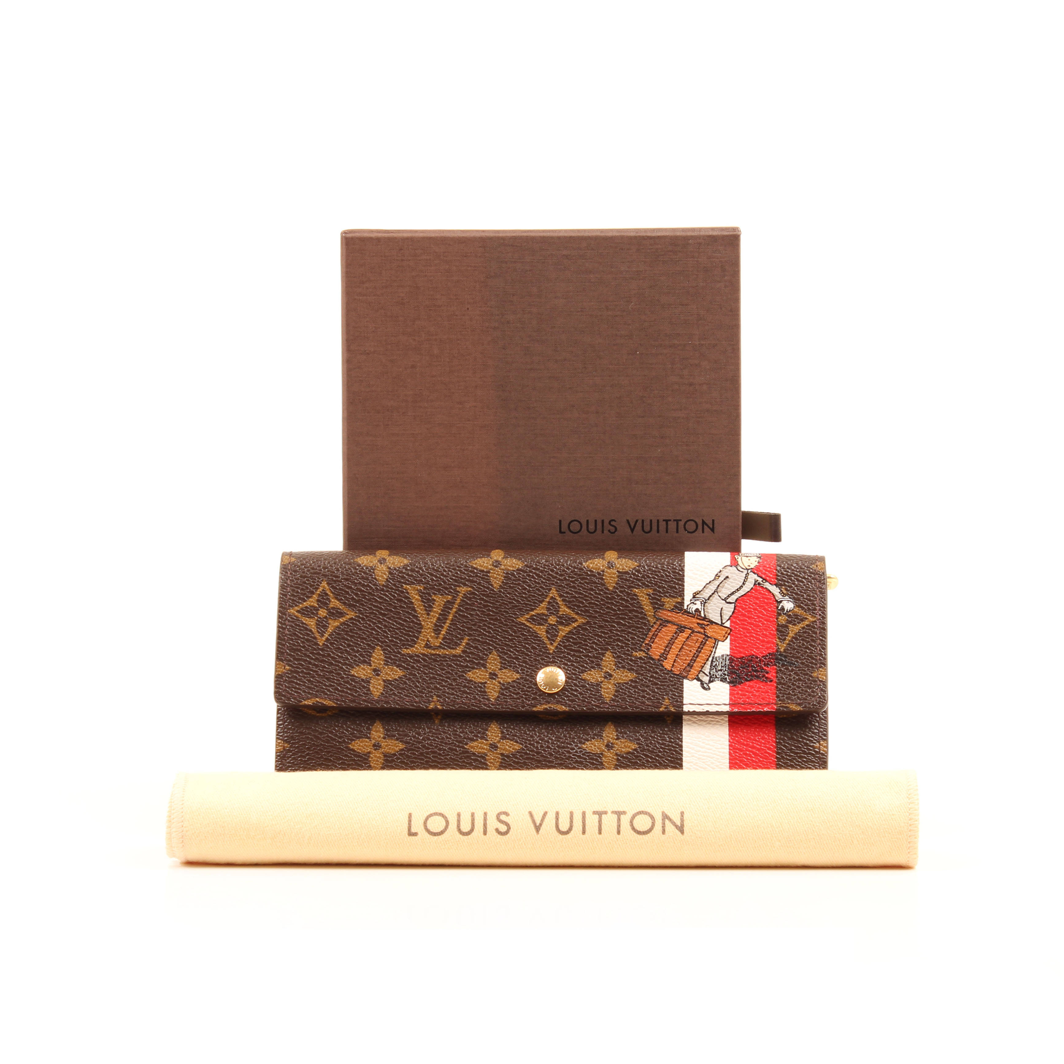 louis vuitton sarah groom wallet limited edition monogram funda caja