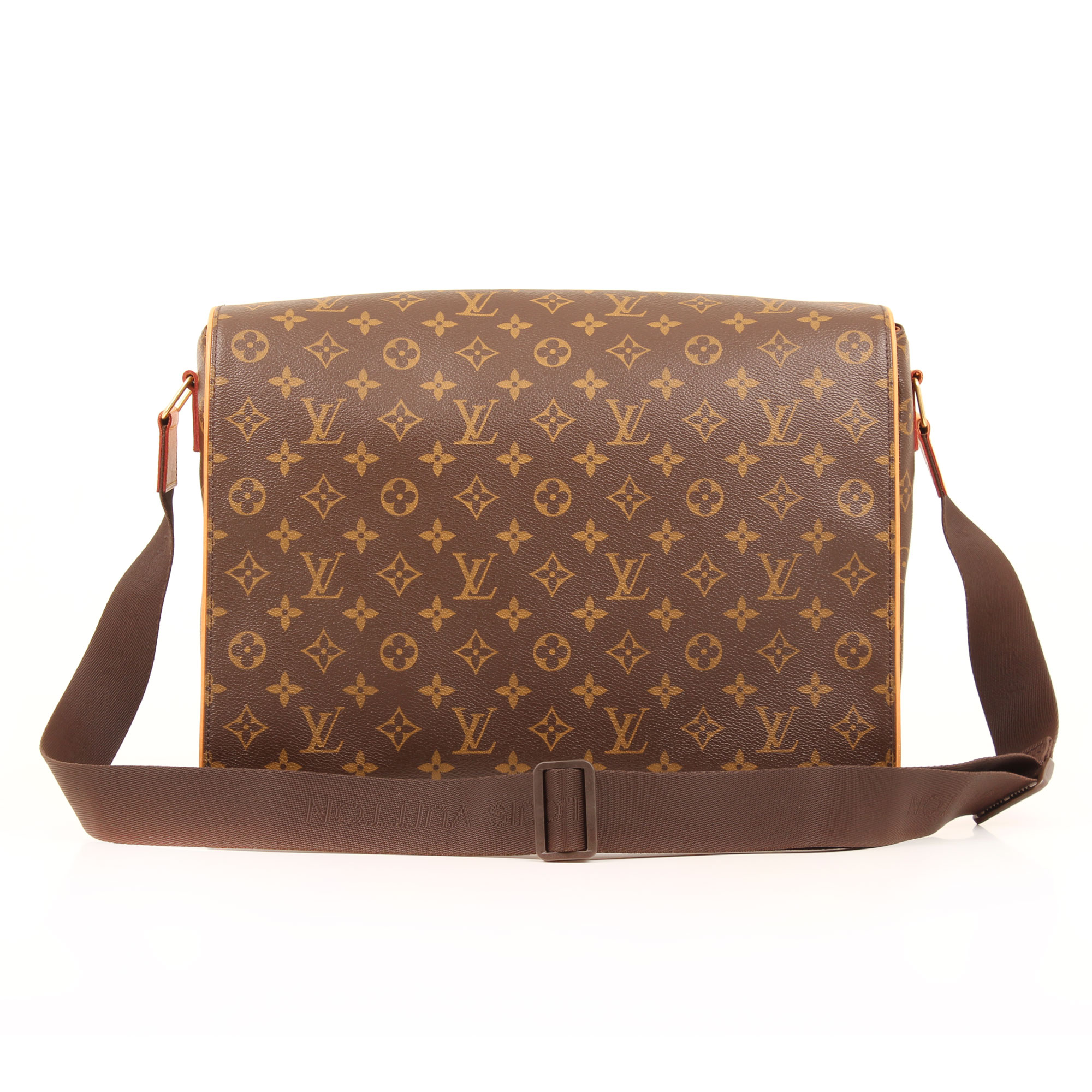 Imagen frontal de la bandolera louis vuitton abbesses monogram