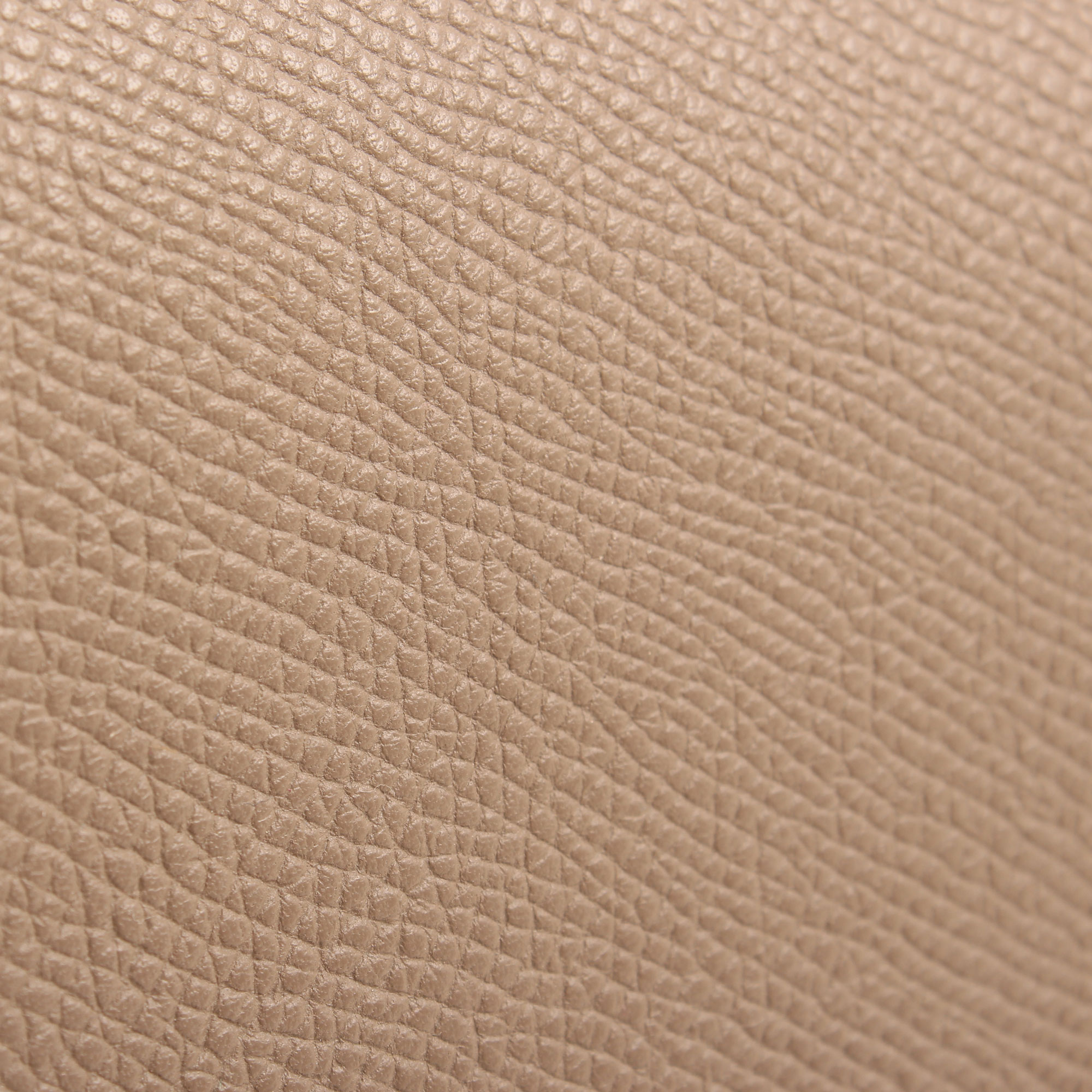 Leather detail of celine trotteur crossbody bag grey grain leather