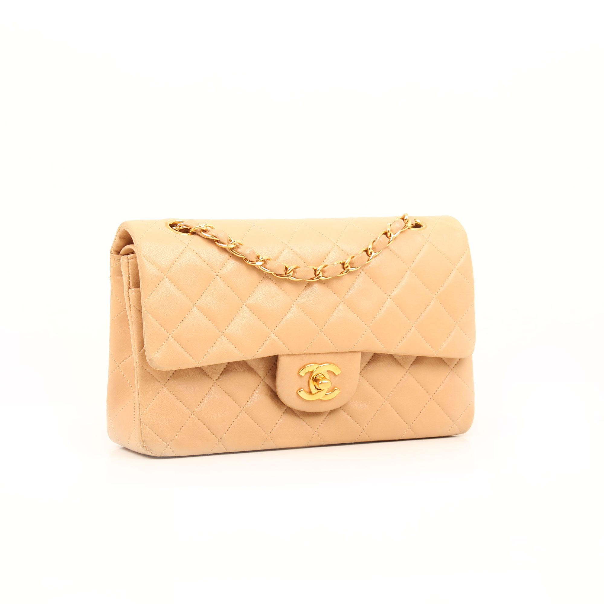 General image of chanel classic double flap bag beige