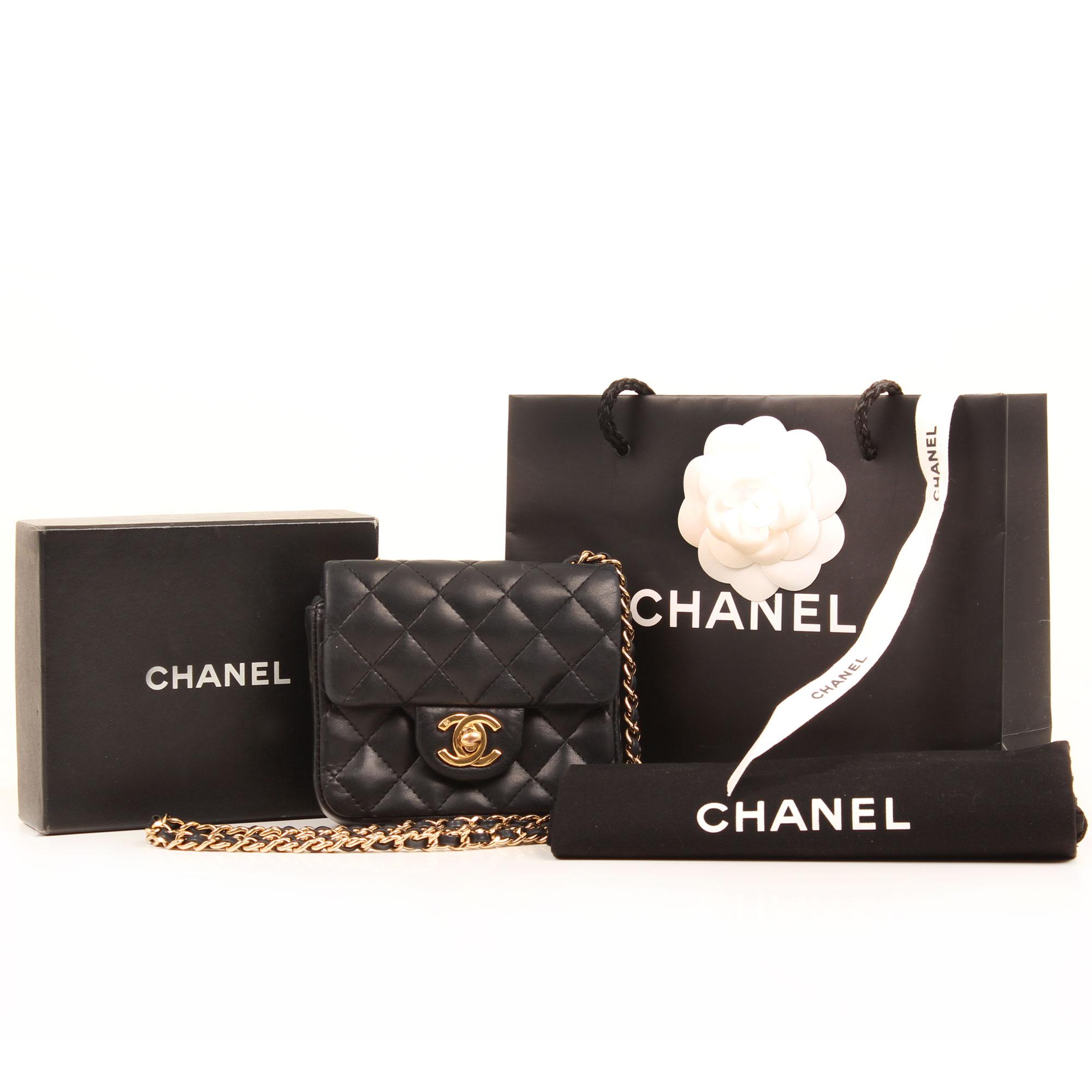 Extras image of chanel micro mini black bag