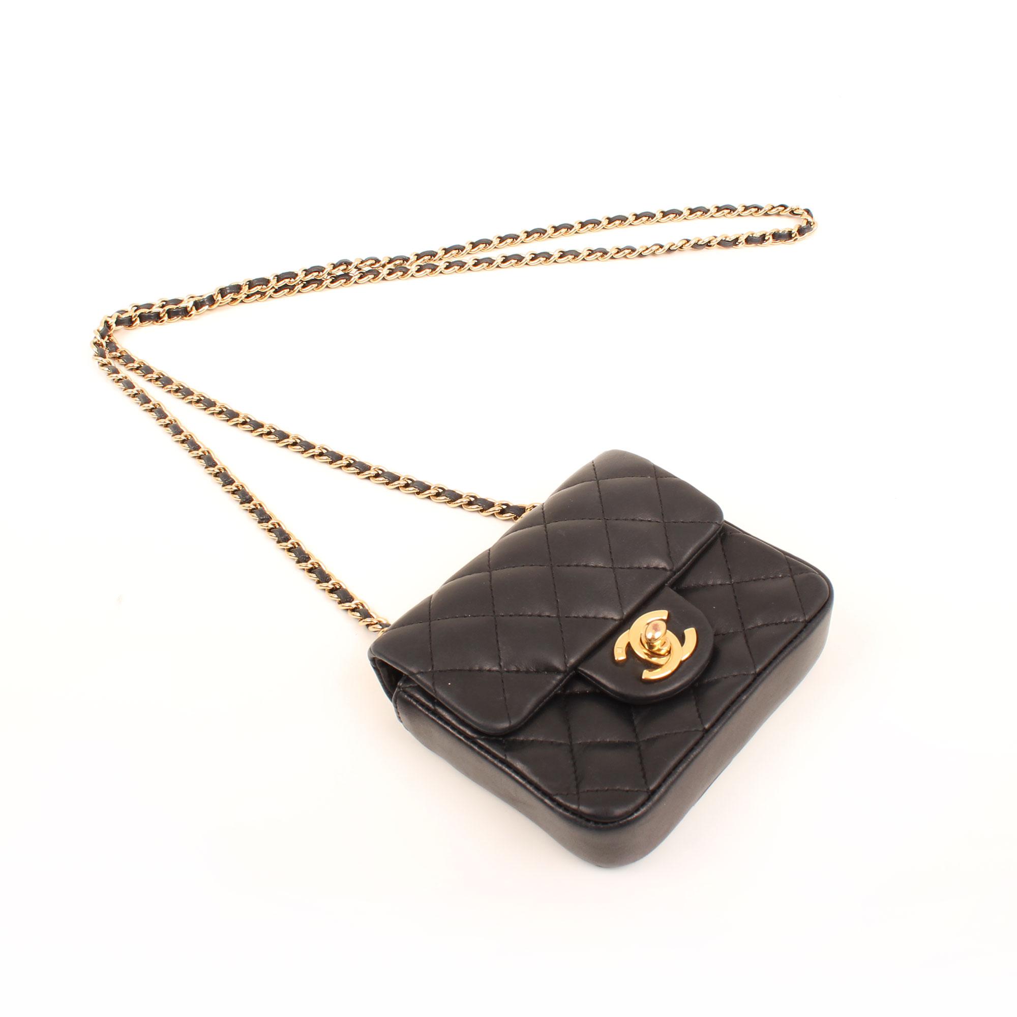 General image of chanel micro mini black bag