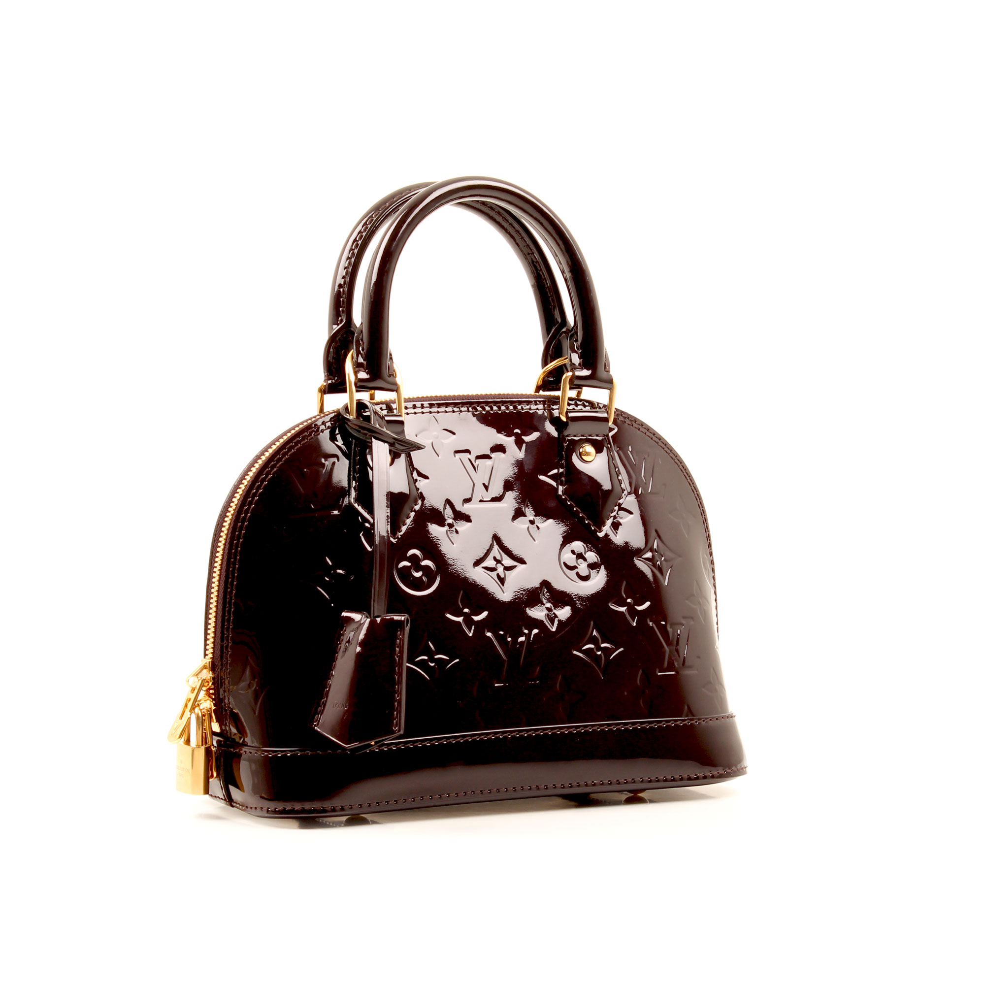 bolso louis vuitton alma bb vernis amarante monogram general