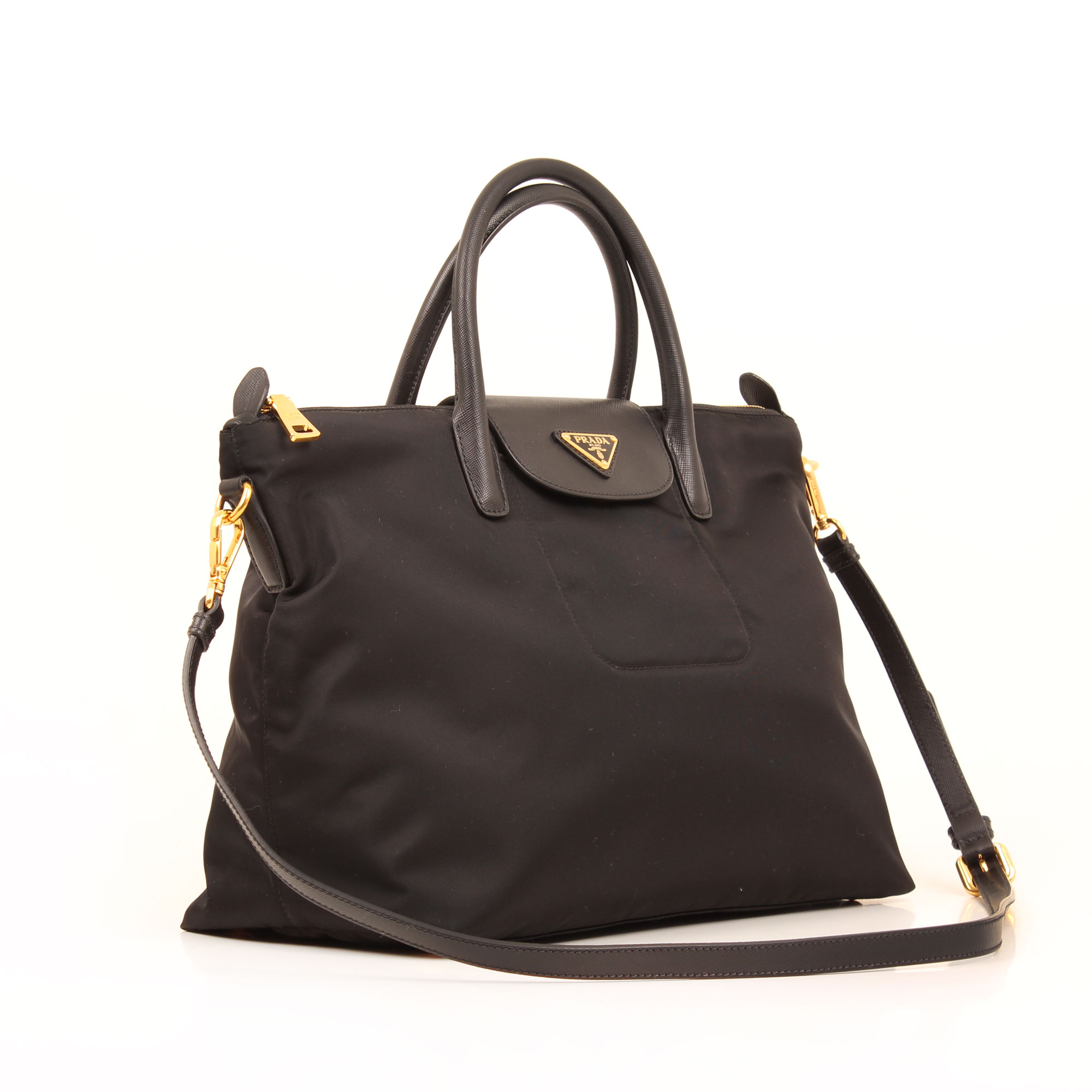 prada bag saffiano nylon black general