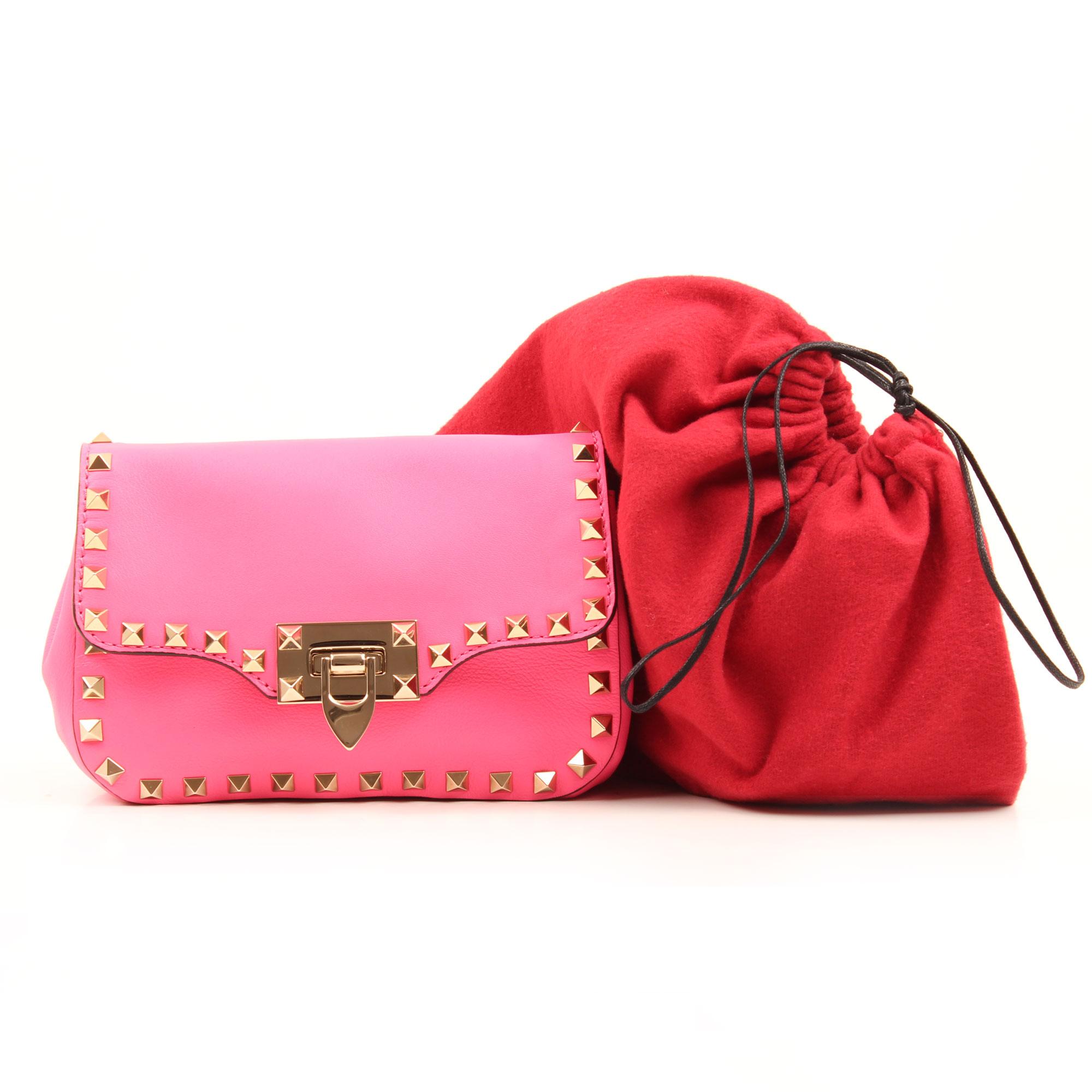 Imagen del dustbag bolso valentino mini rockstud rosa