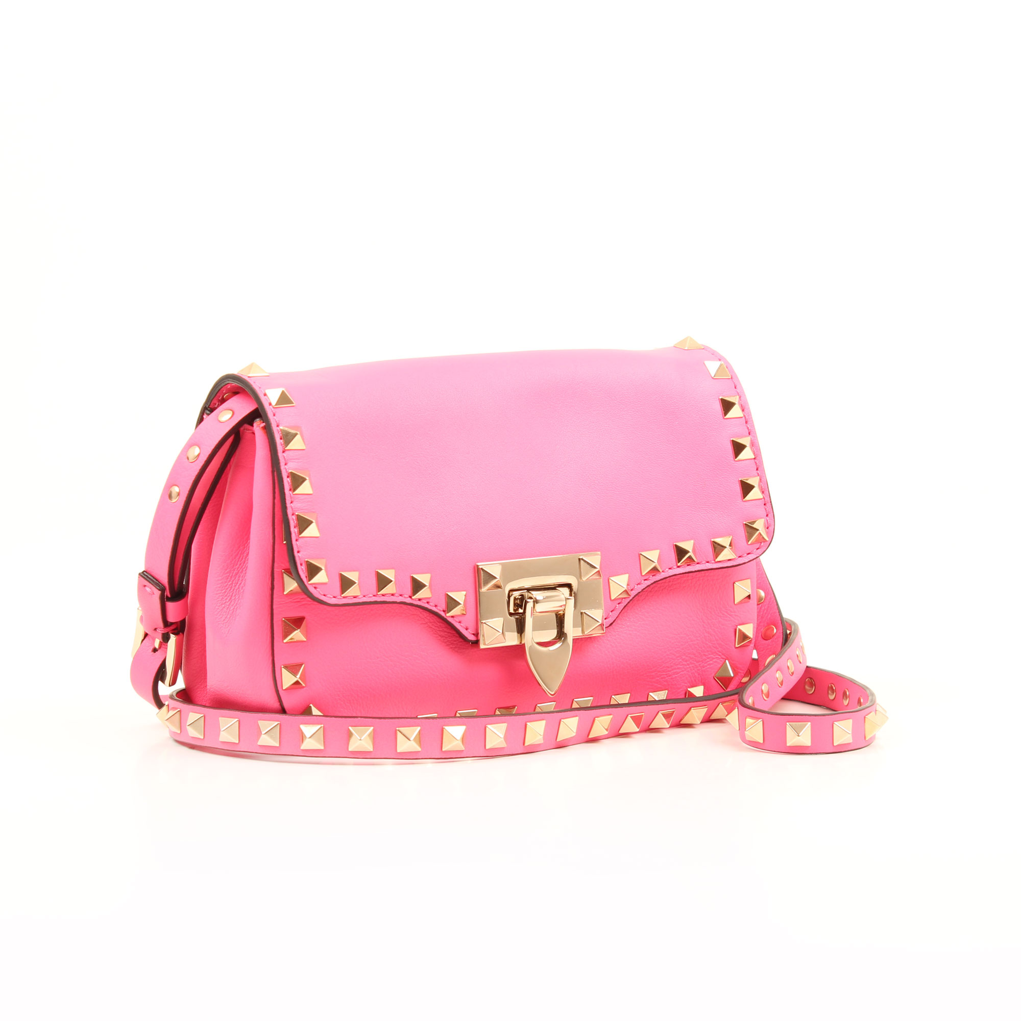 General image of valentino mini rockstud pink bag