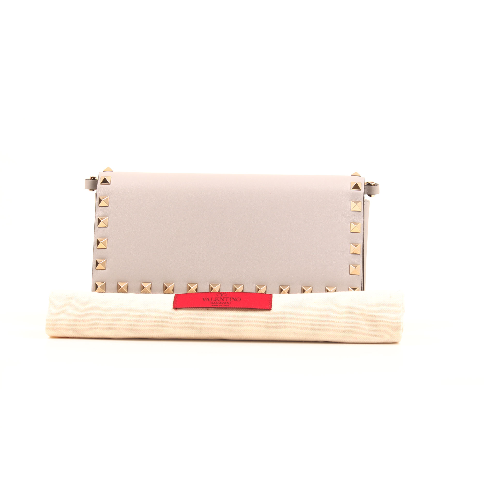 Dustbag image of valentino woc rockstud light grey