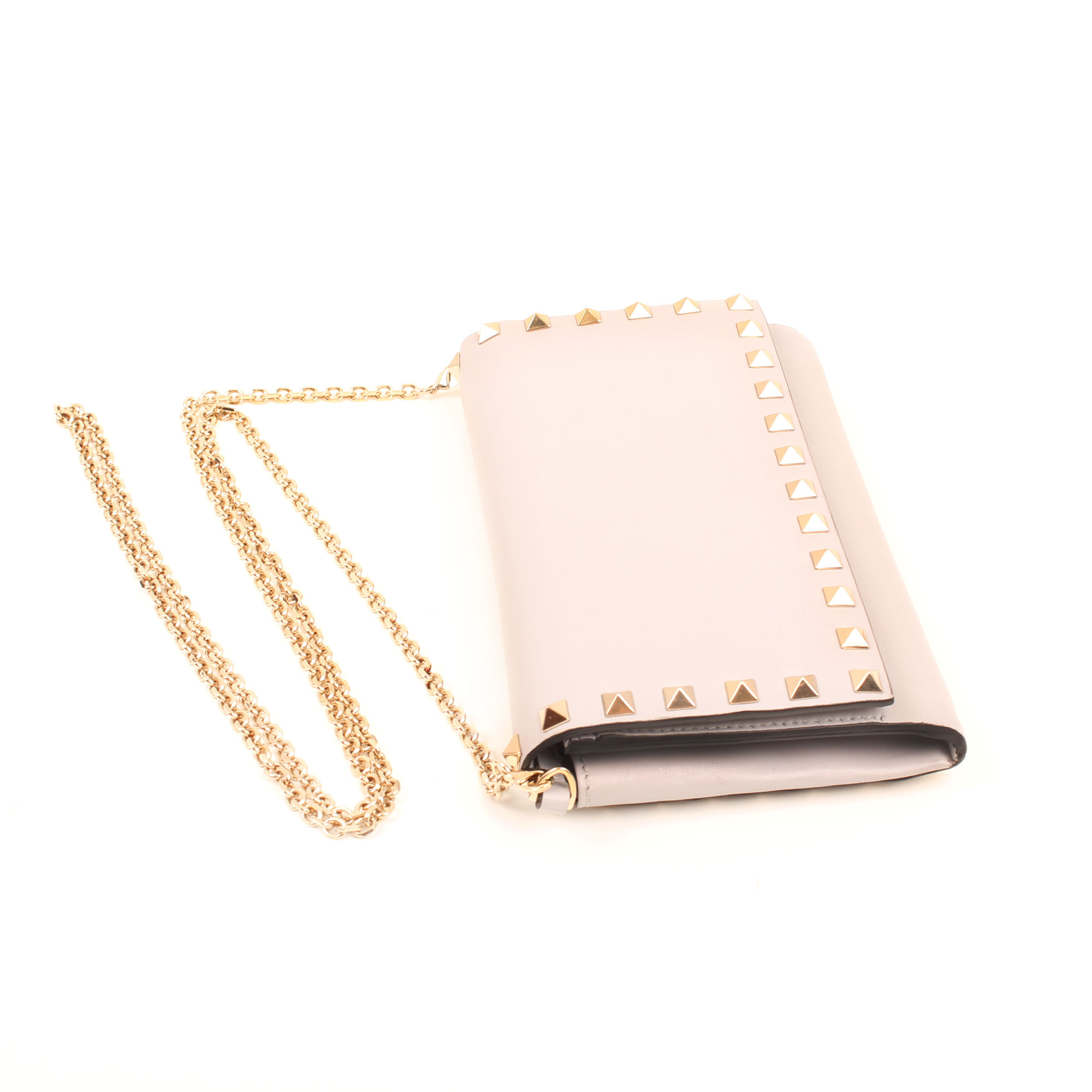 General image of valentino woc rockstud light grey dustbag