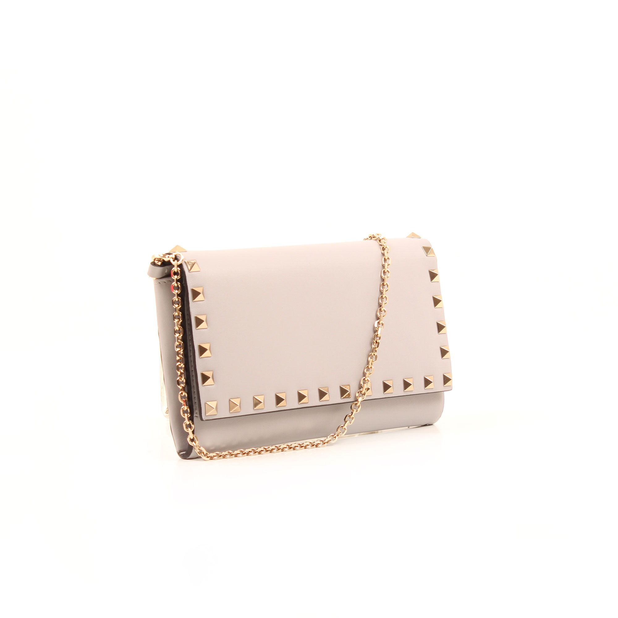 General image 2 of valentino mini rockstud pink bag side clasp