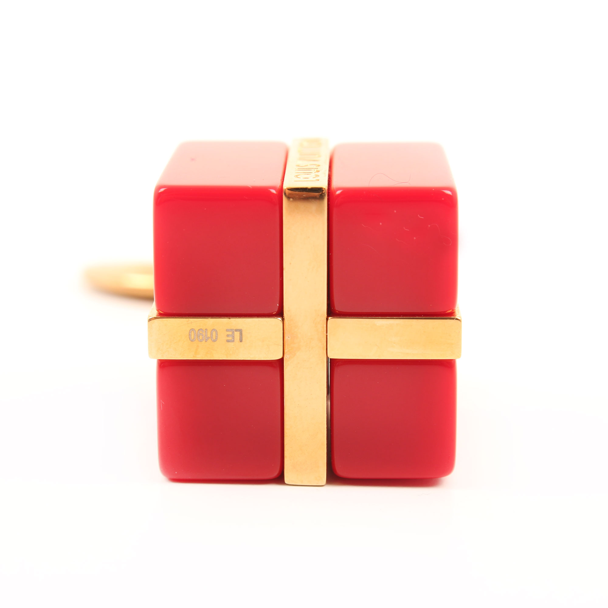 louis vuitton charm gift box bag golden red bottom