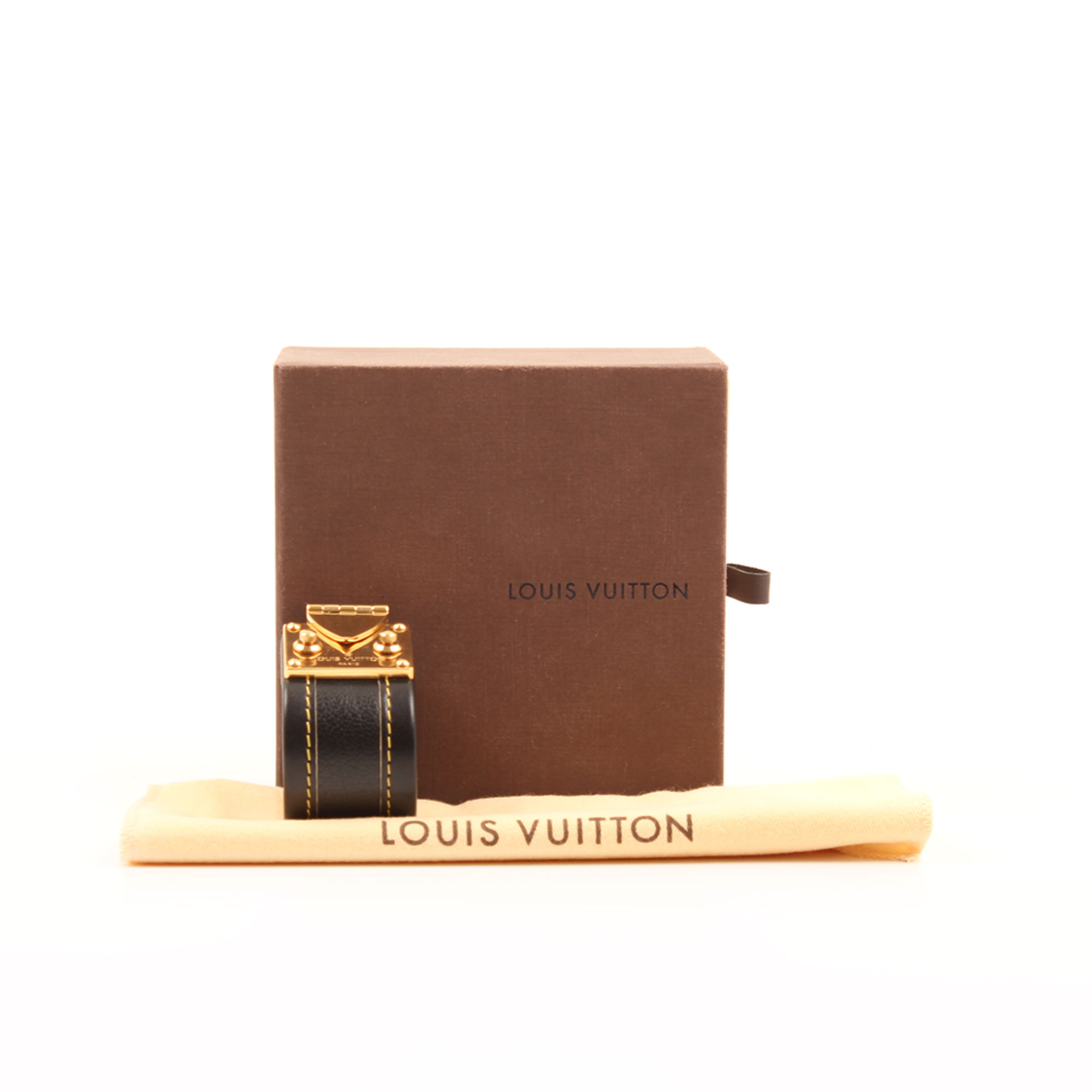 Imagen de los extras de louis vuitton suhali slock bracelet black gold