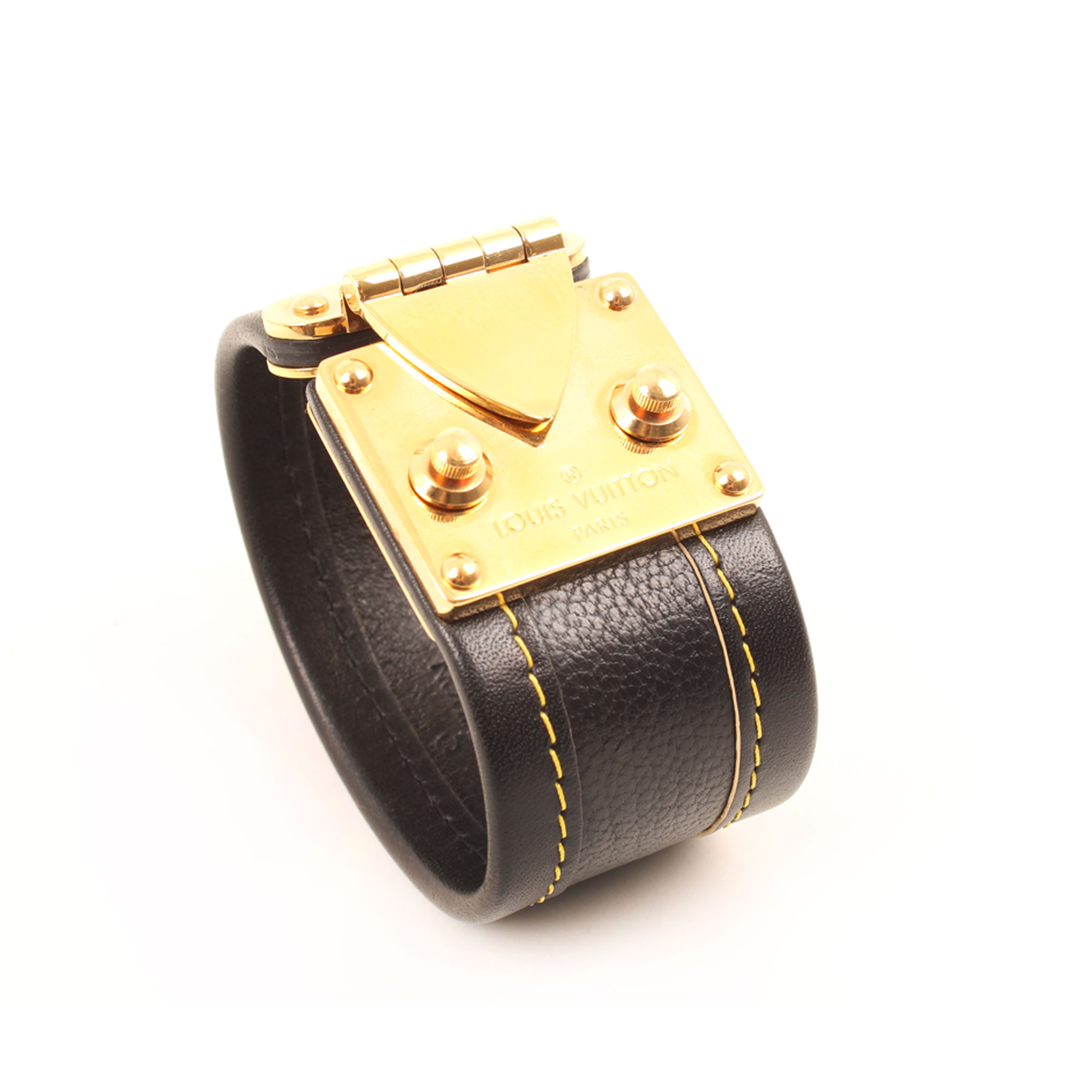 Imagen general 2 del bracelet louis vuitton suhali slock black gold