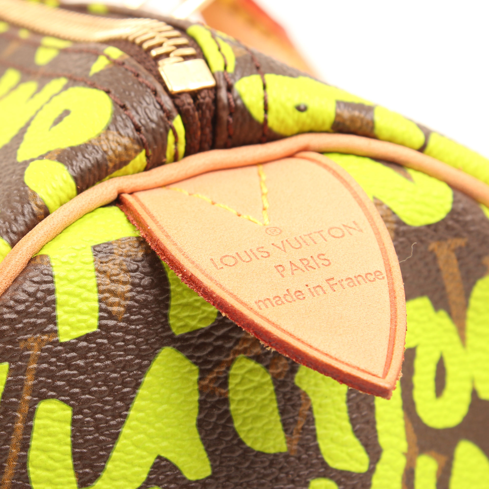 Imagen de la marca del bolso louis vuitton speedy 30 graffiti verde