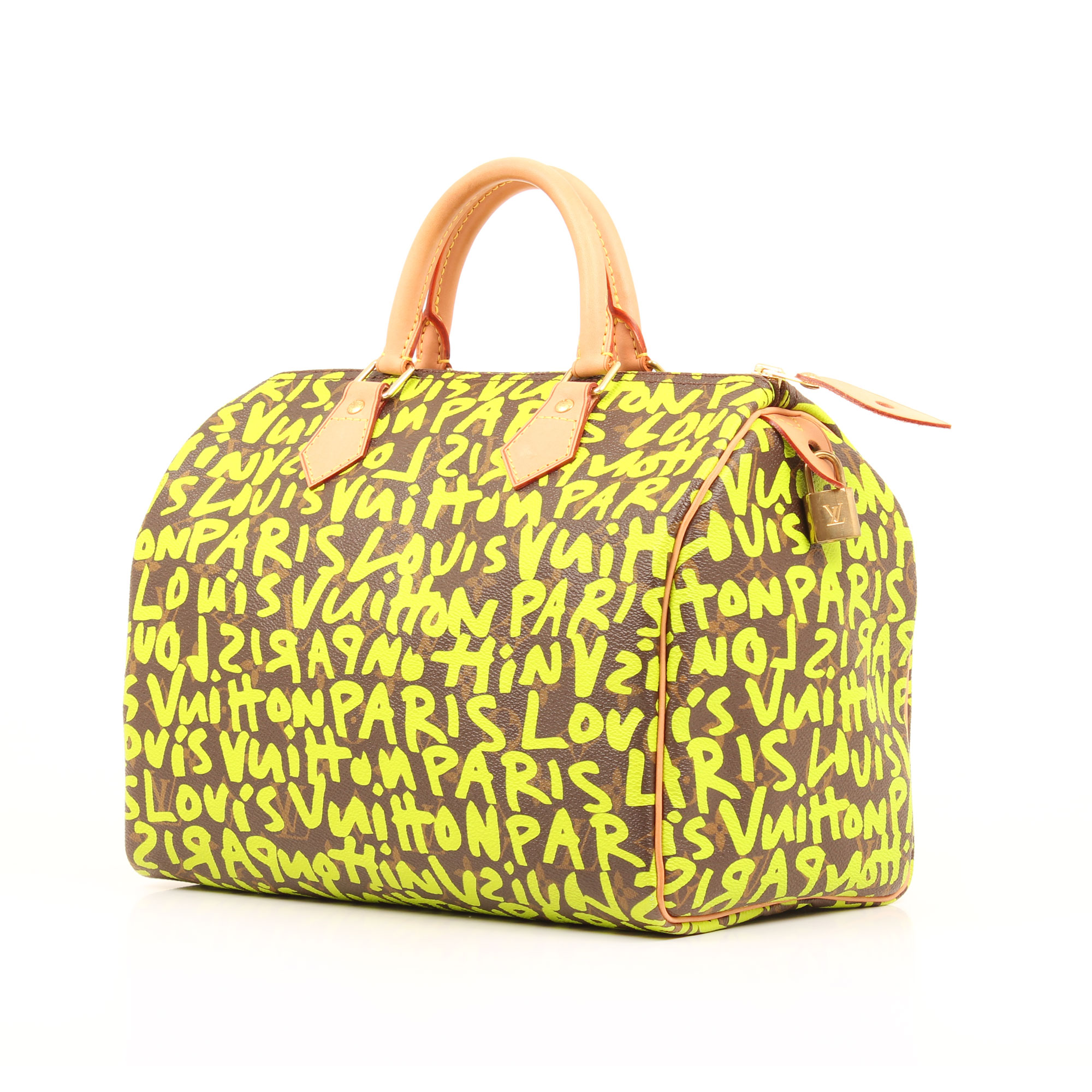 Imagen general del bolso louis vuitton speedy 30 graffiti verde