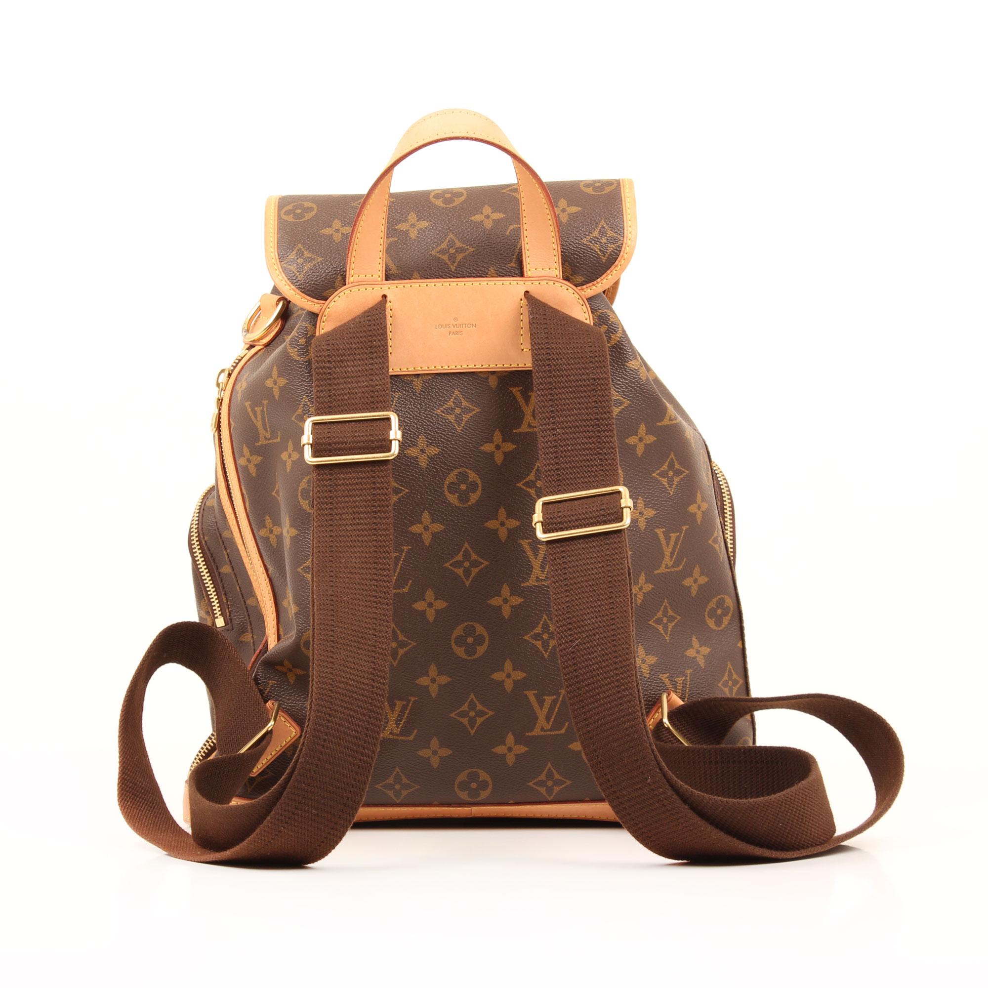 Imagen trasera de la mochila louis vuitton bosphore monogram