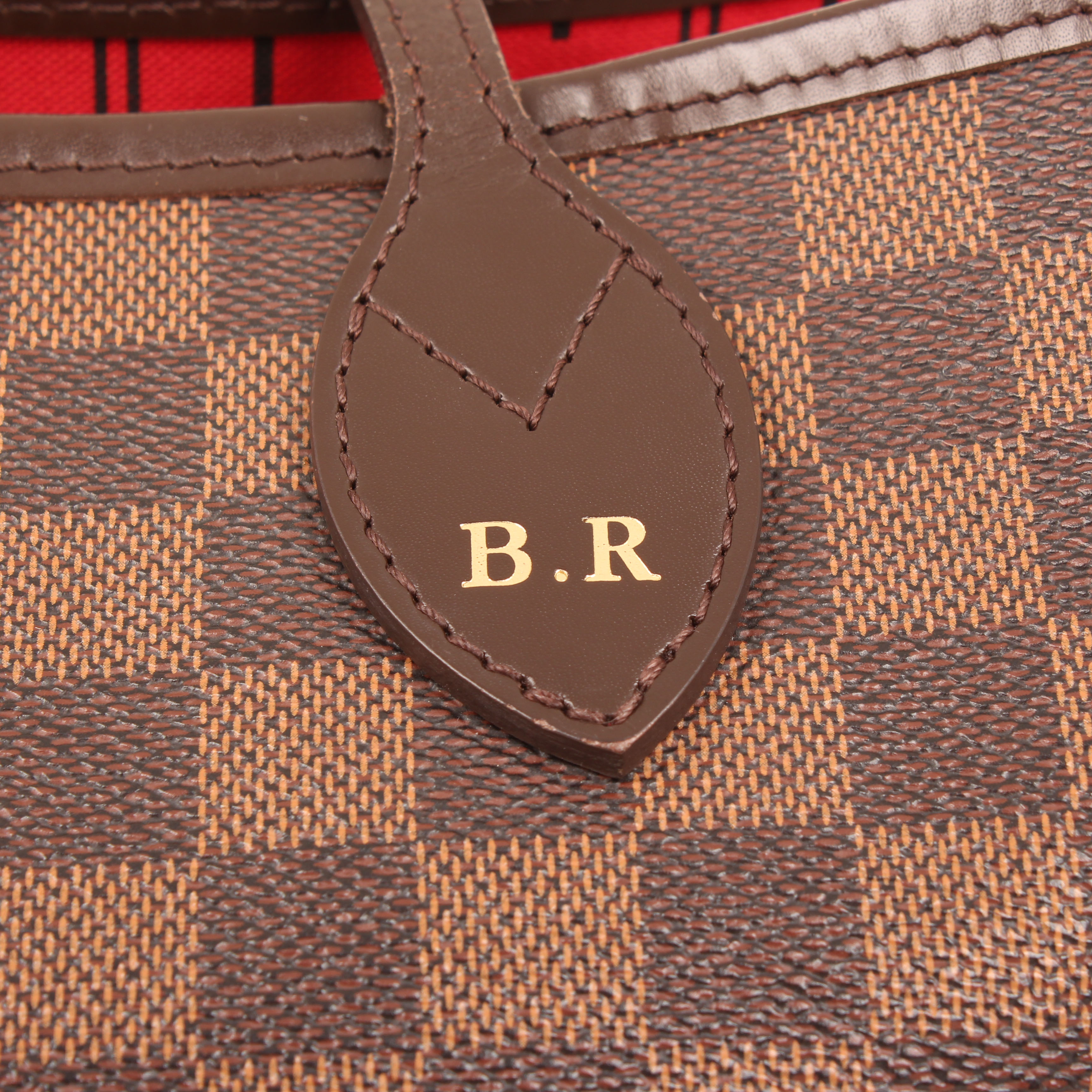 shoulder bag louis vuitton neverfull mm damier ebene initials