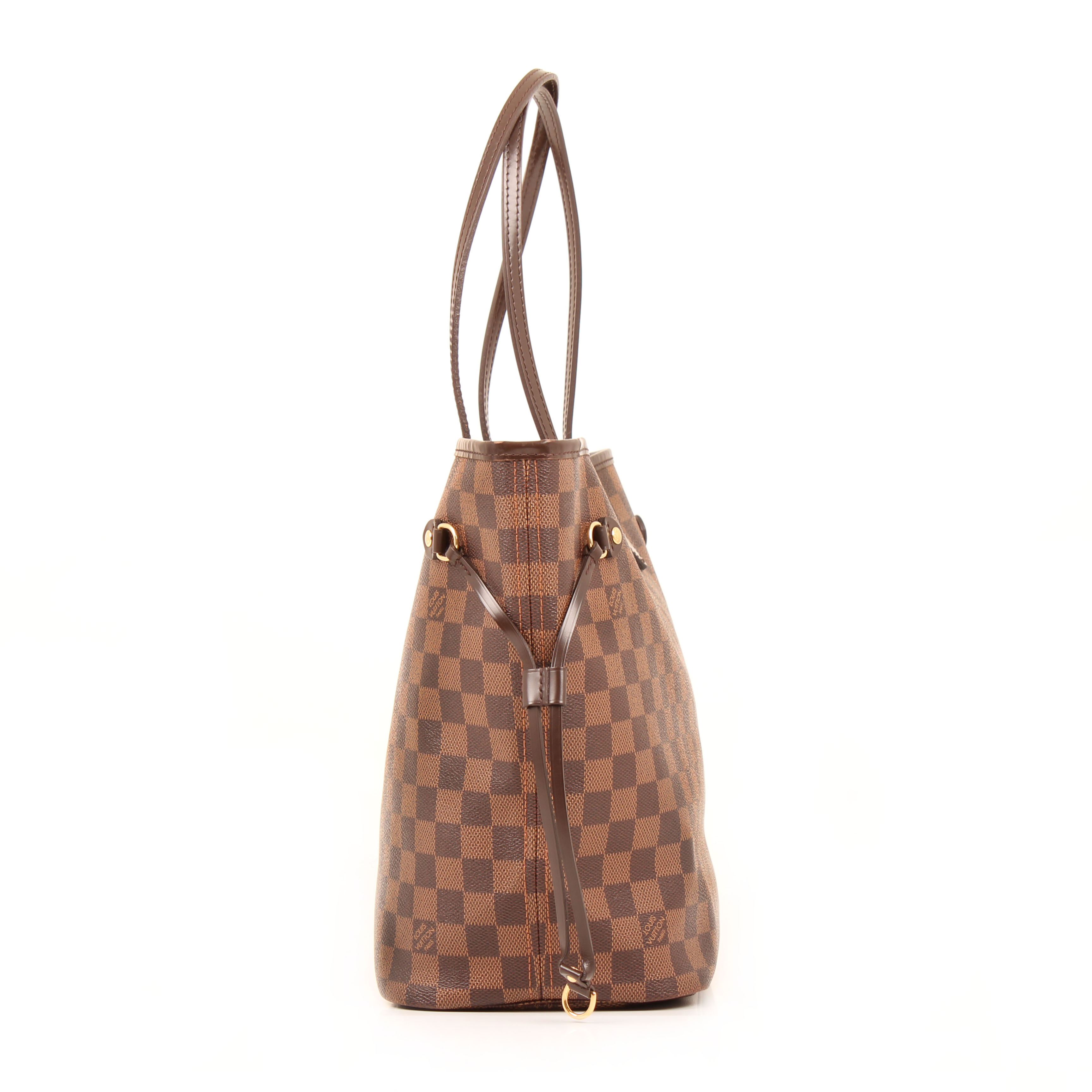 from shoulder bag louis vuitton neverfull mm damier ebene side