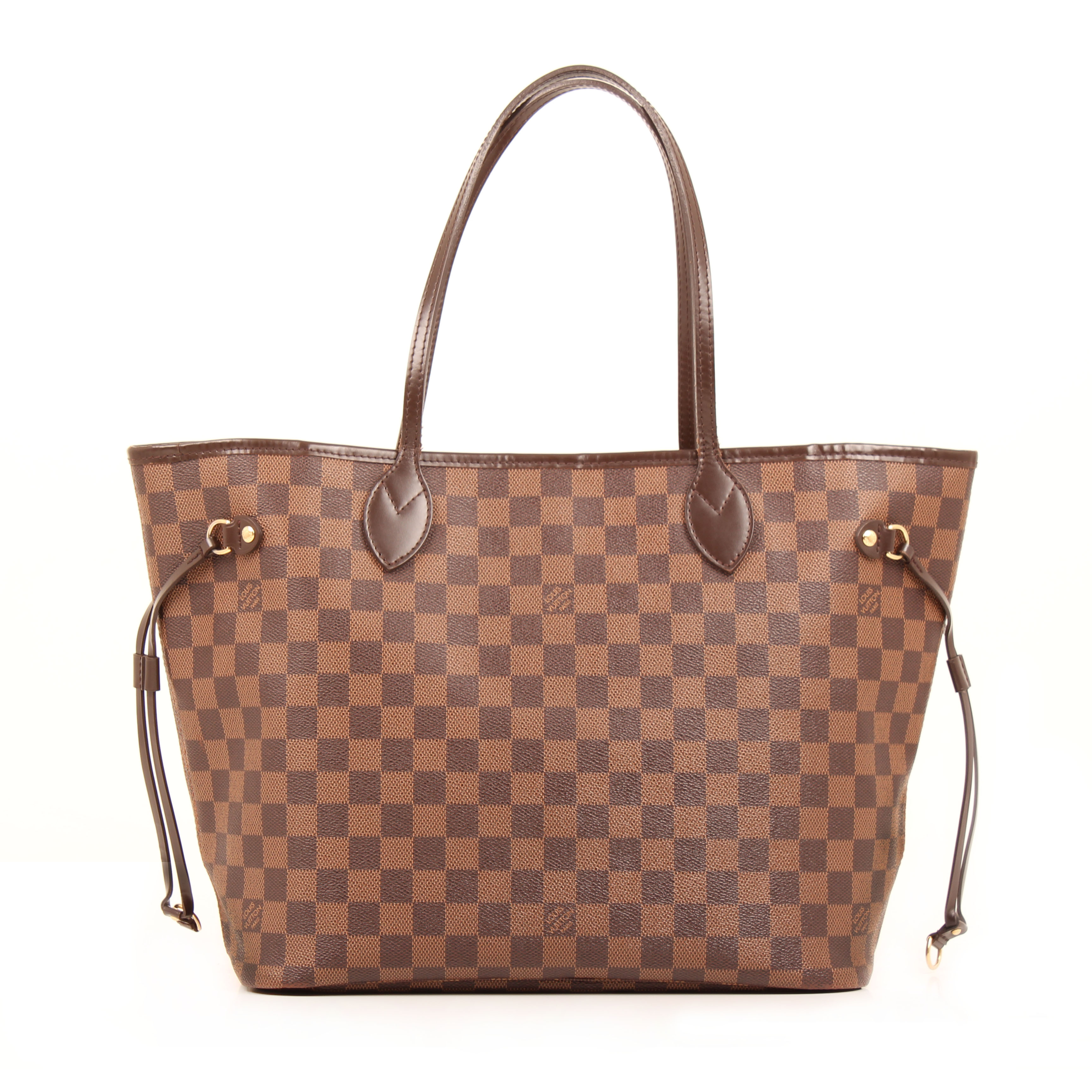 shoulder bag louis vuitton neverfull mm damier ebene back