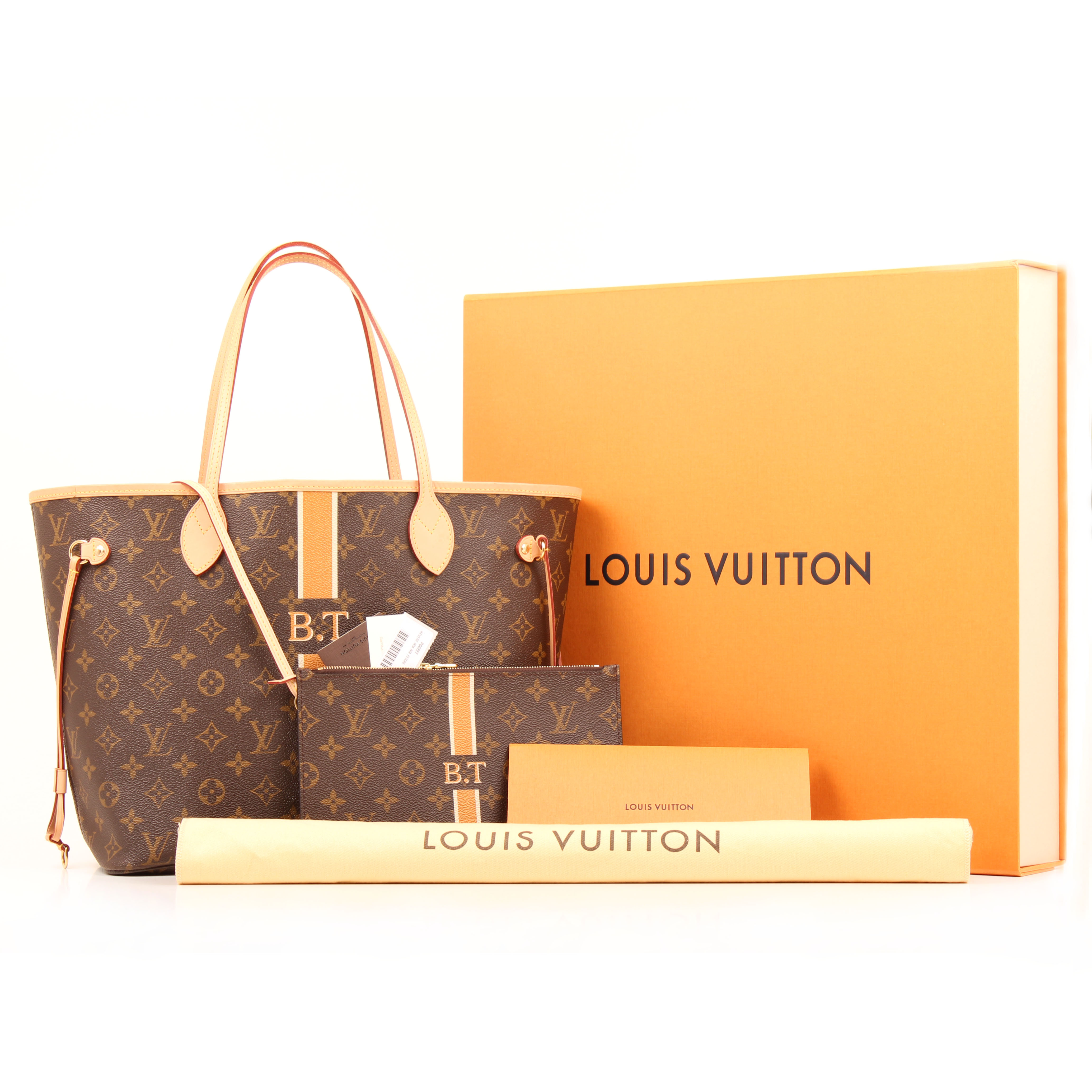 bolso louis vuitton neverfull mm nm mon monogram perso i. Black Bedroom Furniture Sets. Home Design Ideas