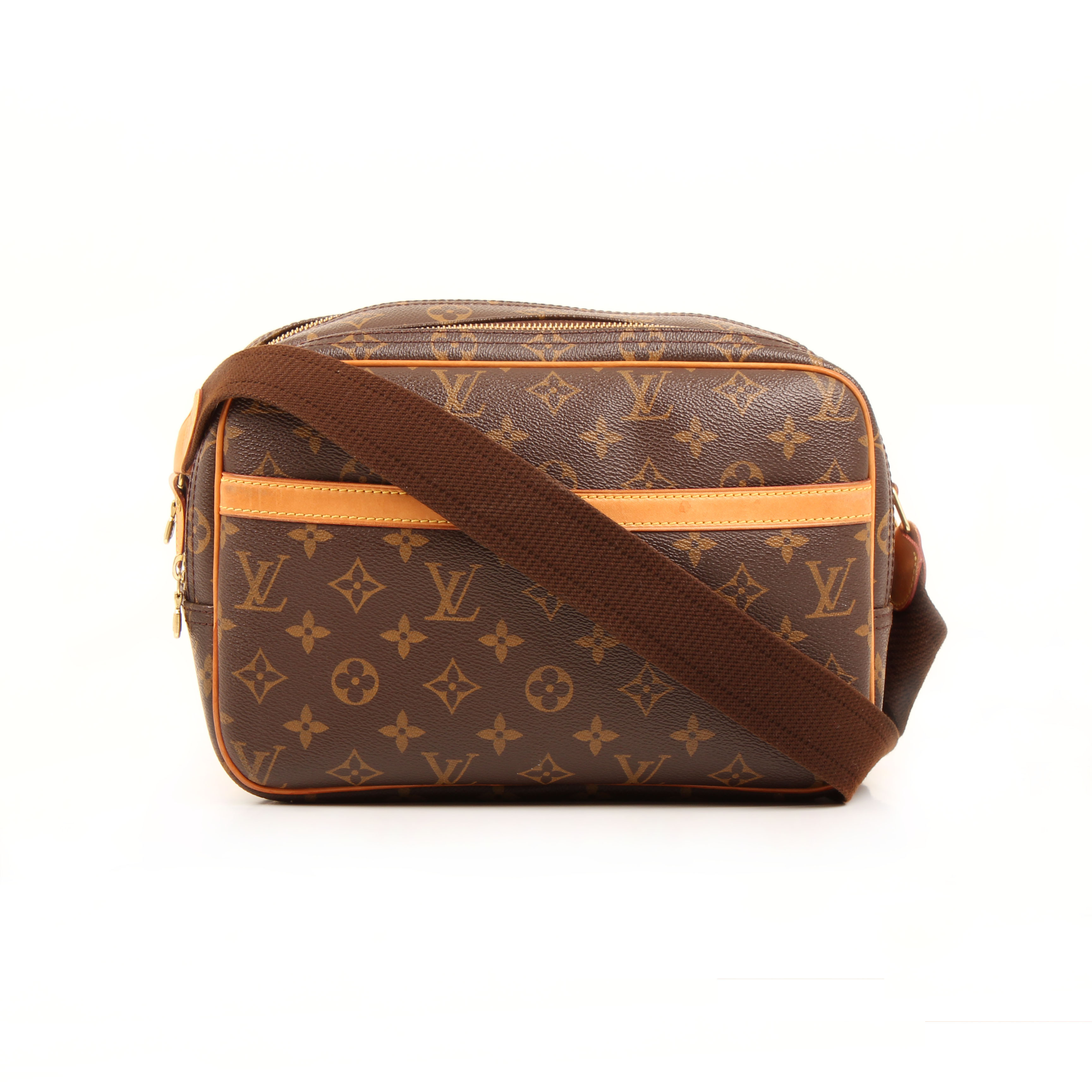 messenger bag louis vuitton reporter pm monogram front