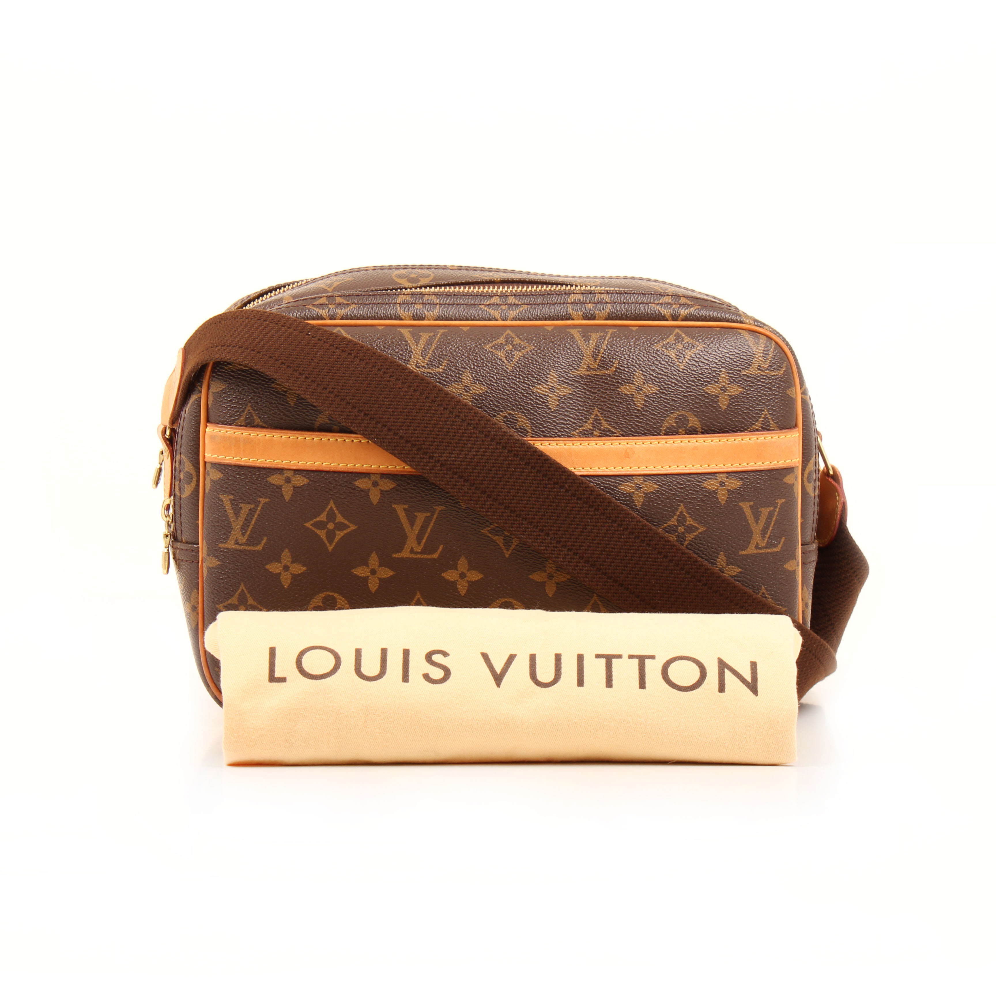 bolso bandolera louis vuitton reporter pm monogram funda