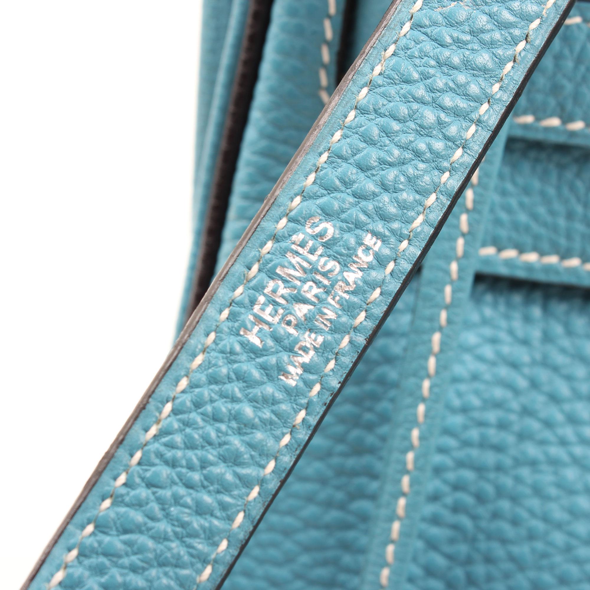 Brand image of hermes kelly 32 azul jean retourne fjord
