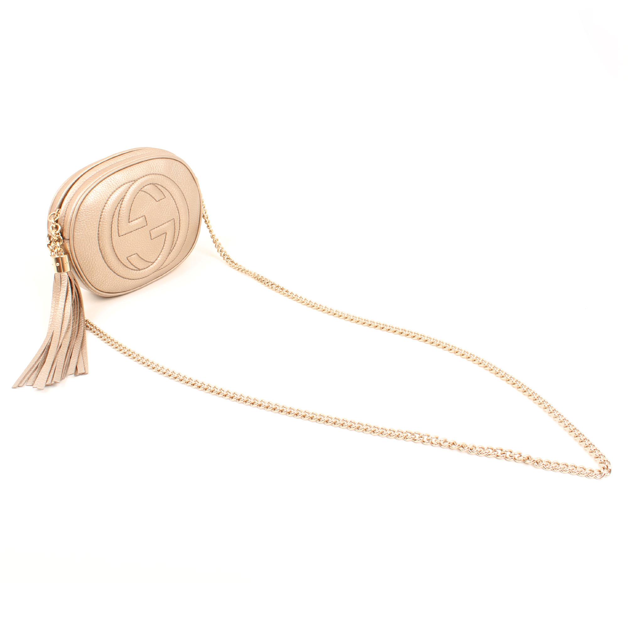 Imagen general del bolso soho piel mini cadena bag tornasolado
