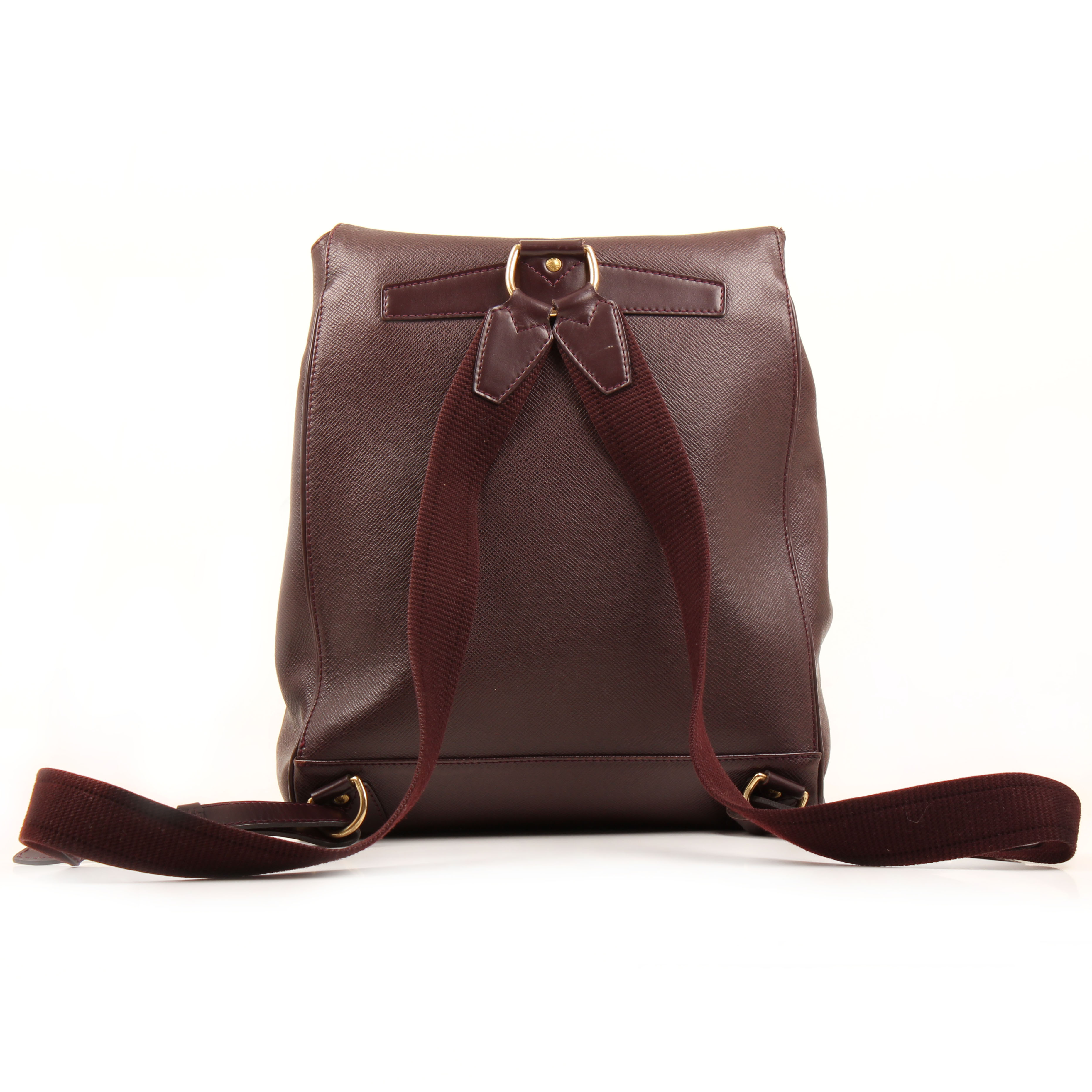 louis vuitton backpack cassiar taiga leather mahogany vintage back