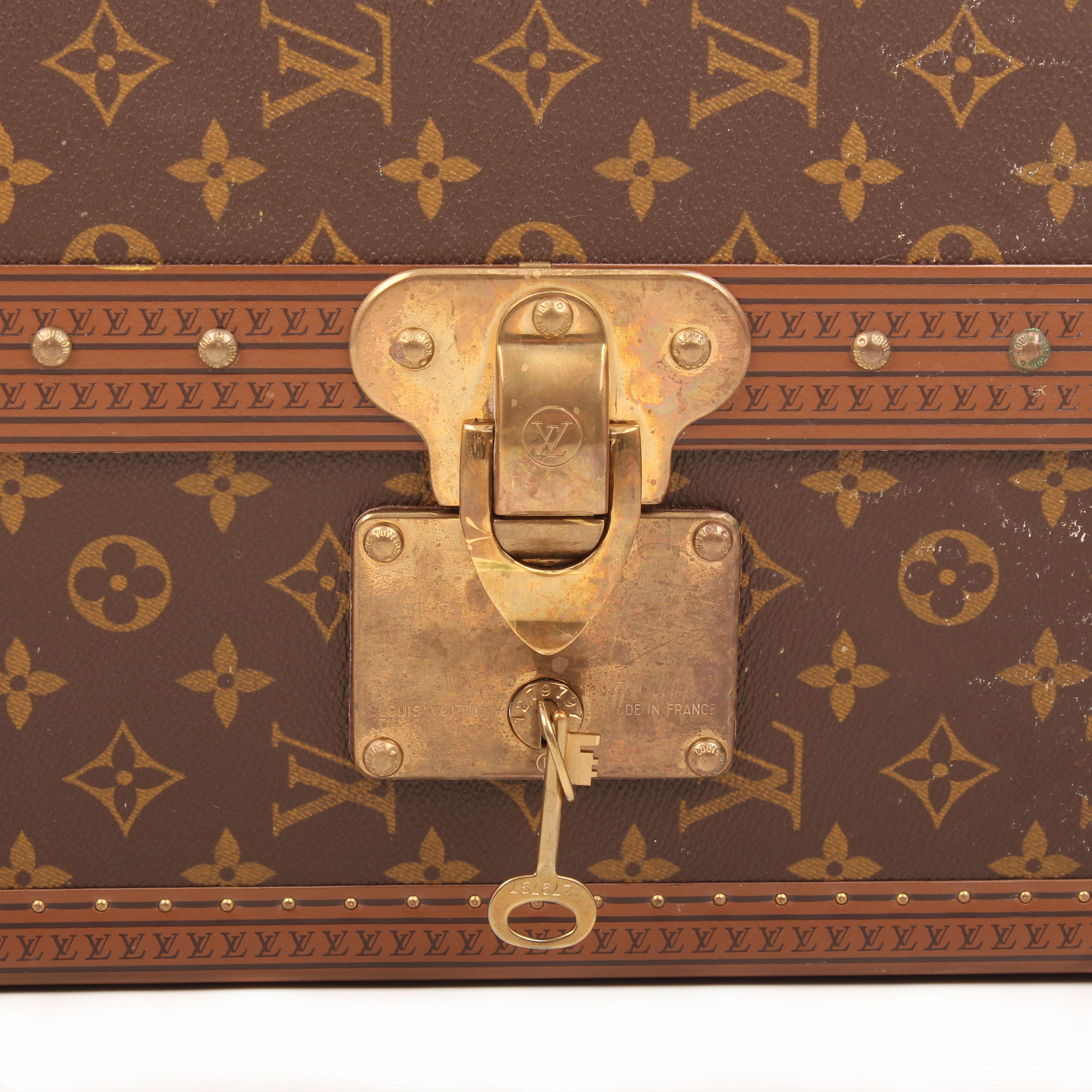 louis vuitton gemine shoe trunk 12 pairs monogram keys