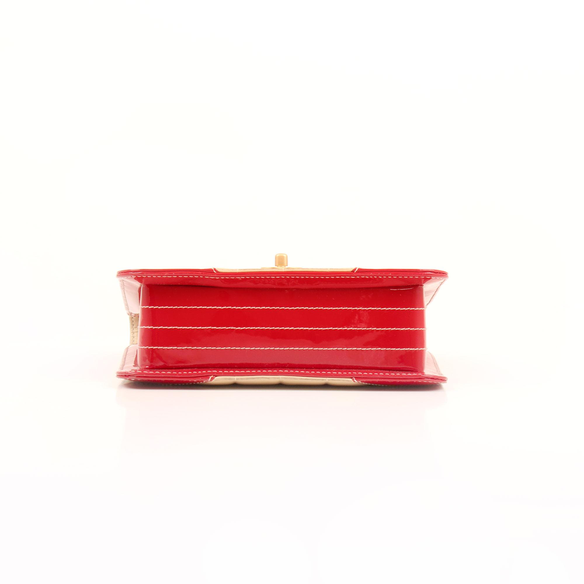 Base image of chanel bicolor choco bar single flap
