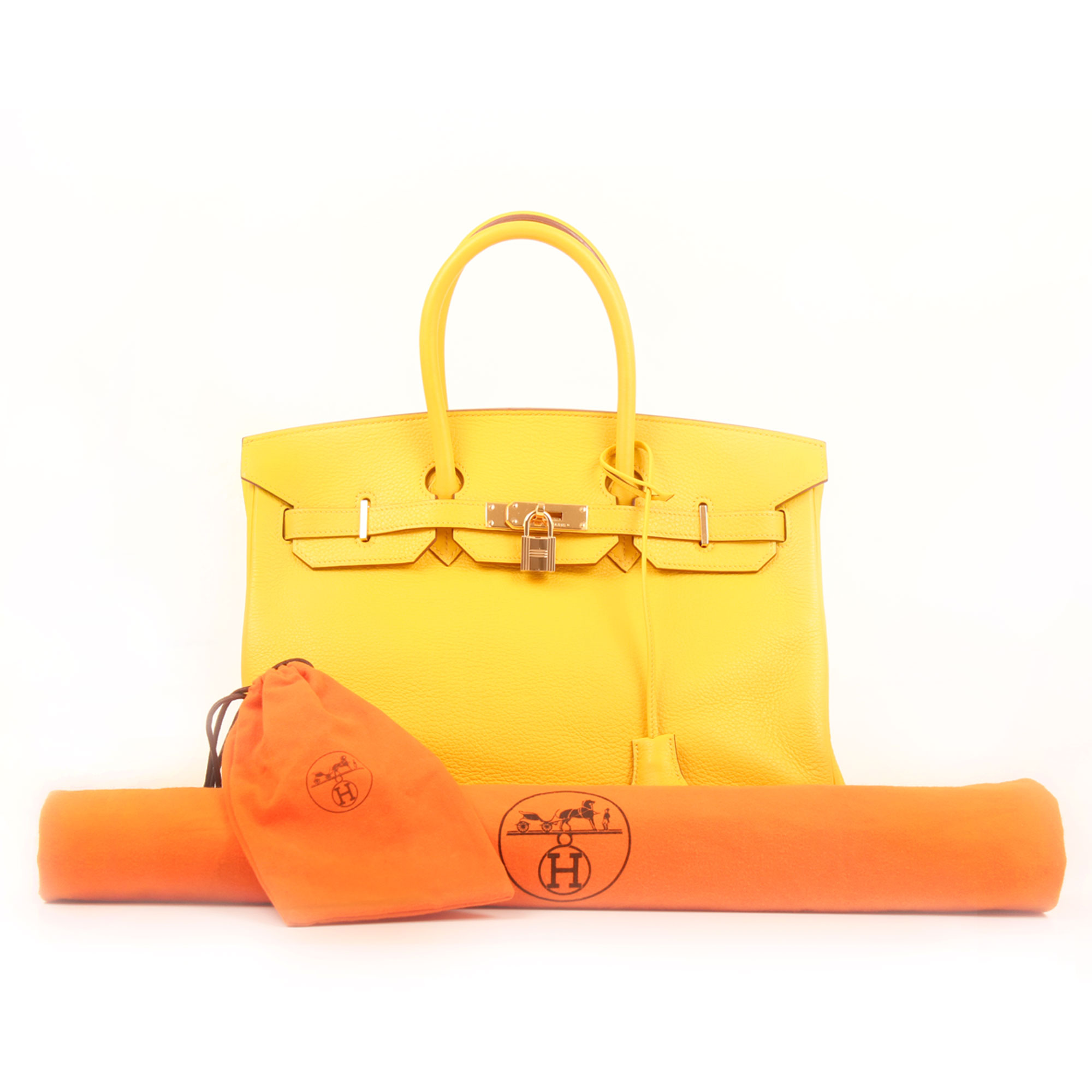 Extras image of hermes birkin 35 jaune togo leather
