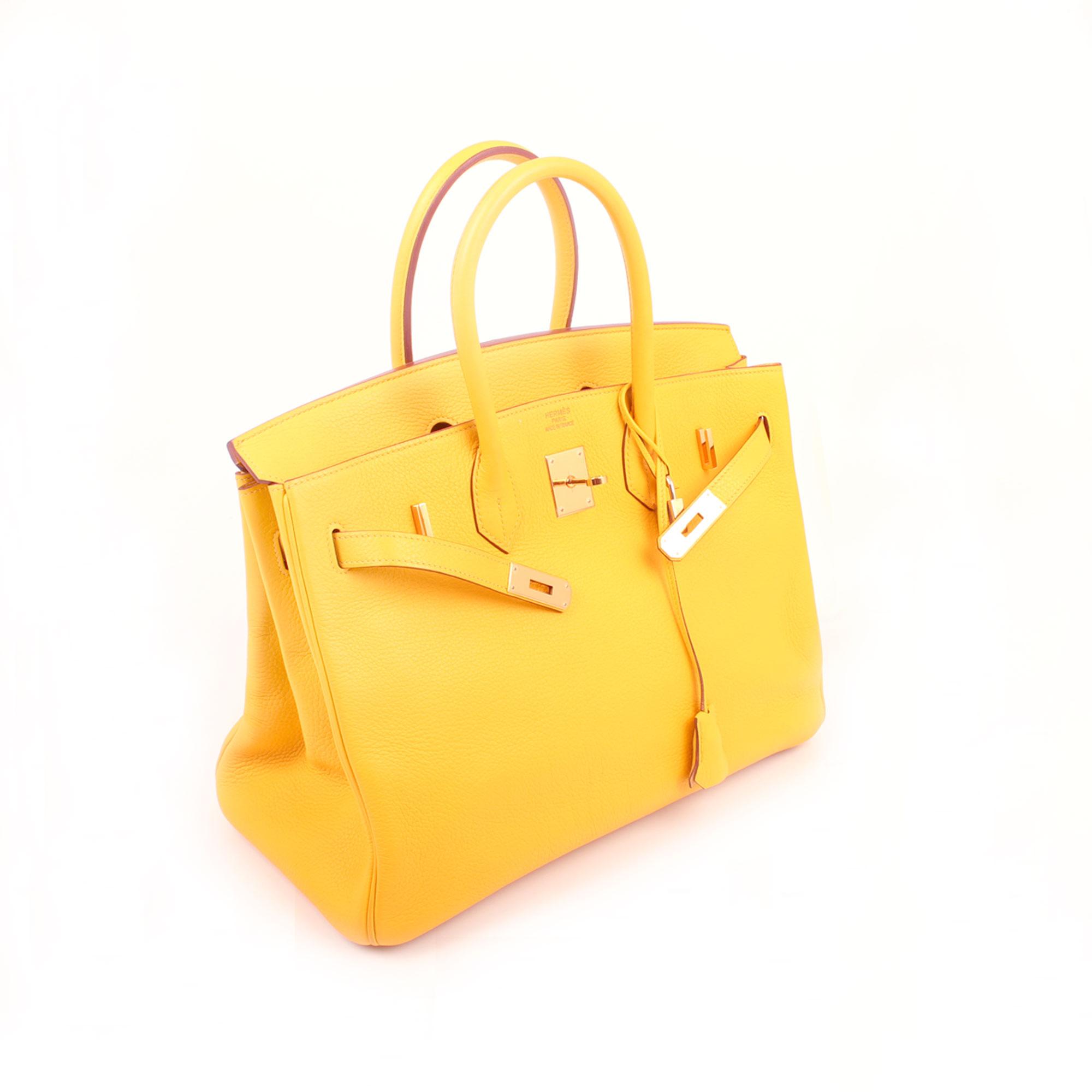 Imagen general del bolso hermes birkin 35 jaune piel togo