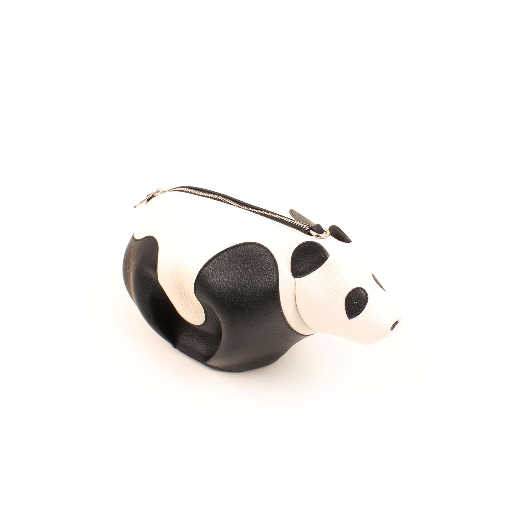 General image of loewe mini panda leather bag