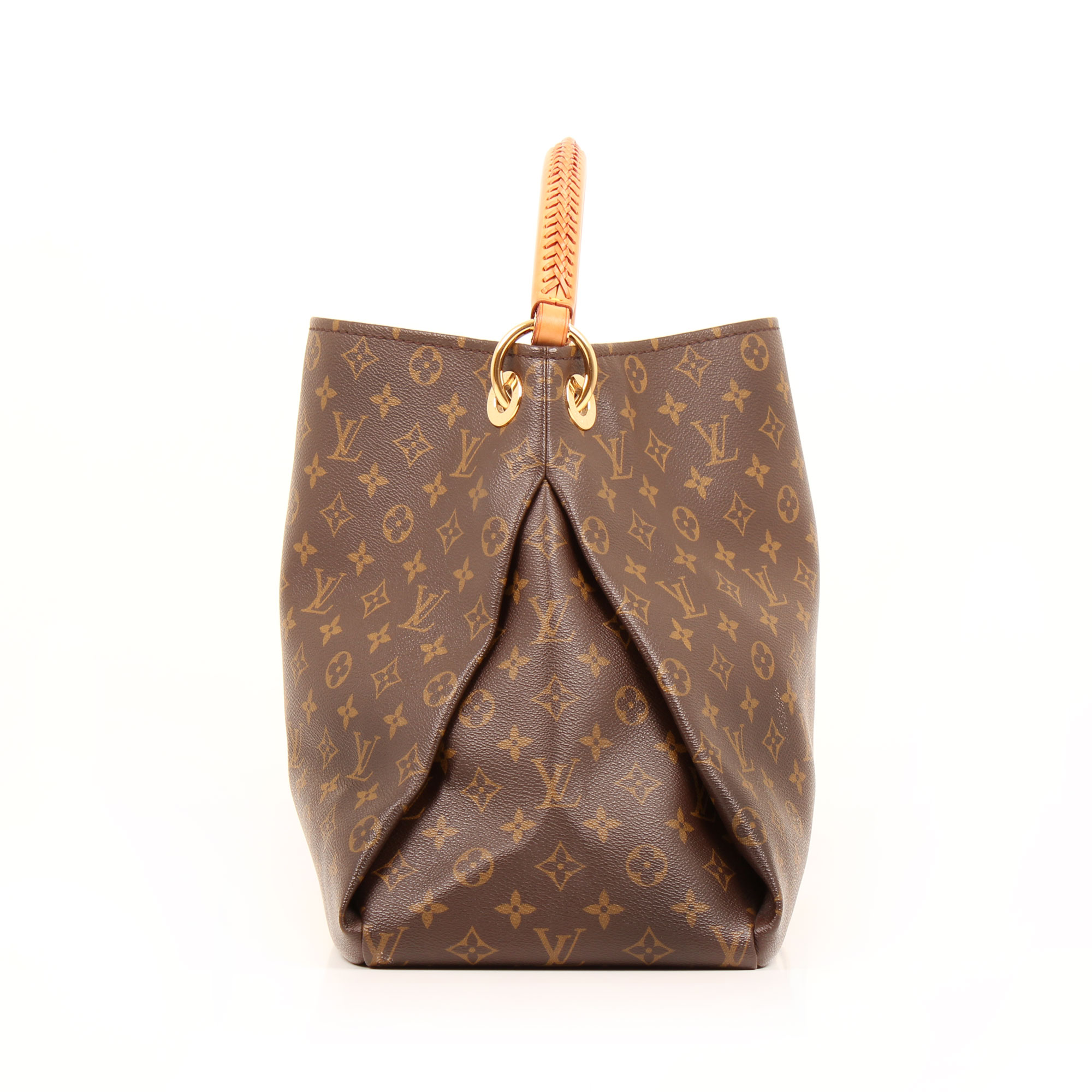 Imagen lateral del bolso louis vuitton artsy monogram mm