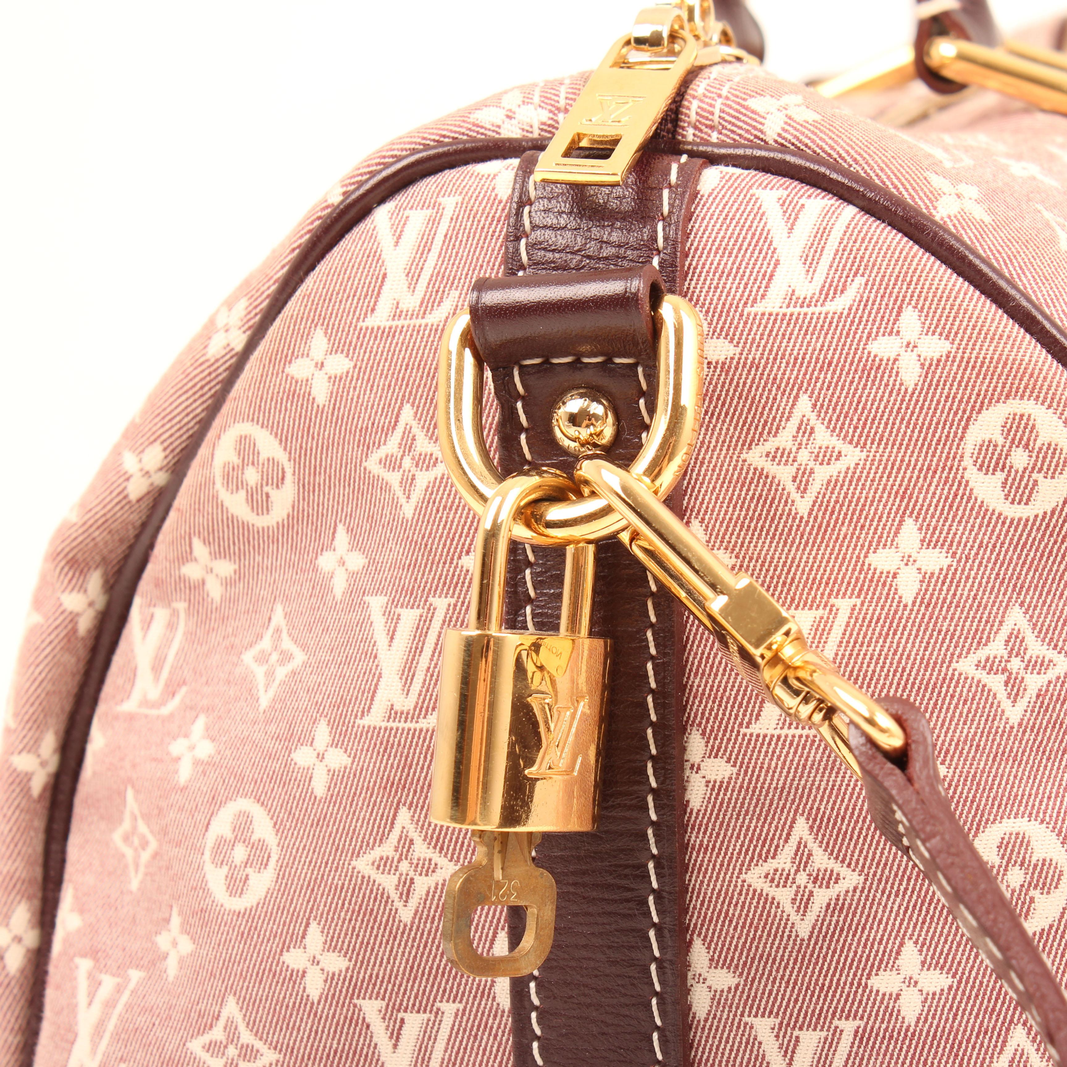 louis vuitton bag speedy 30 idylle sepia padlock and keys