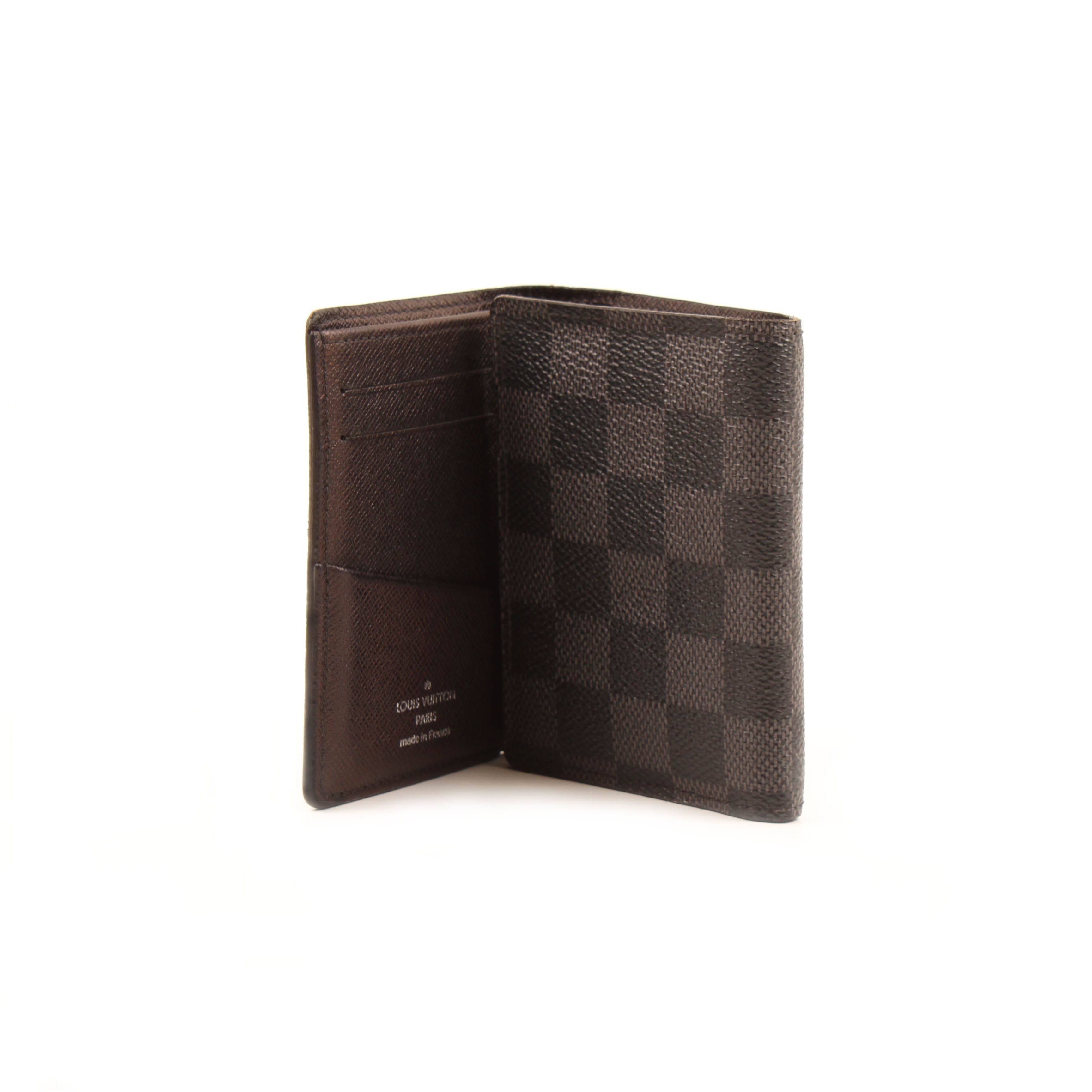 louis vuitton trifold mirror wallet damier graphite card slots