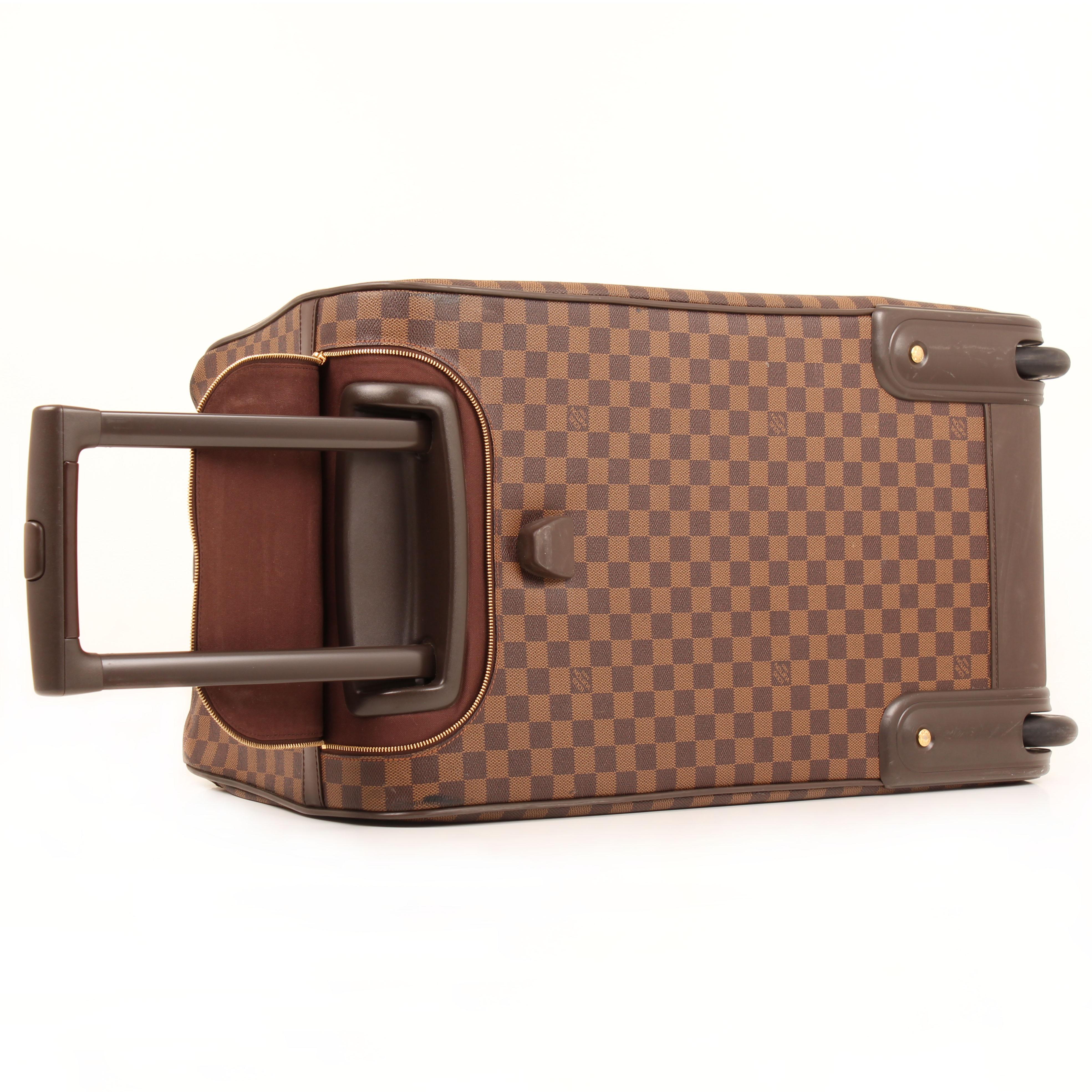 louis vuitton bolsa de viaje eole rolling luggage damier ebene asa telescopica