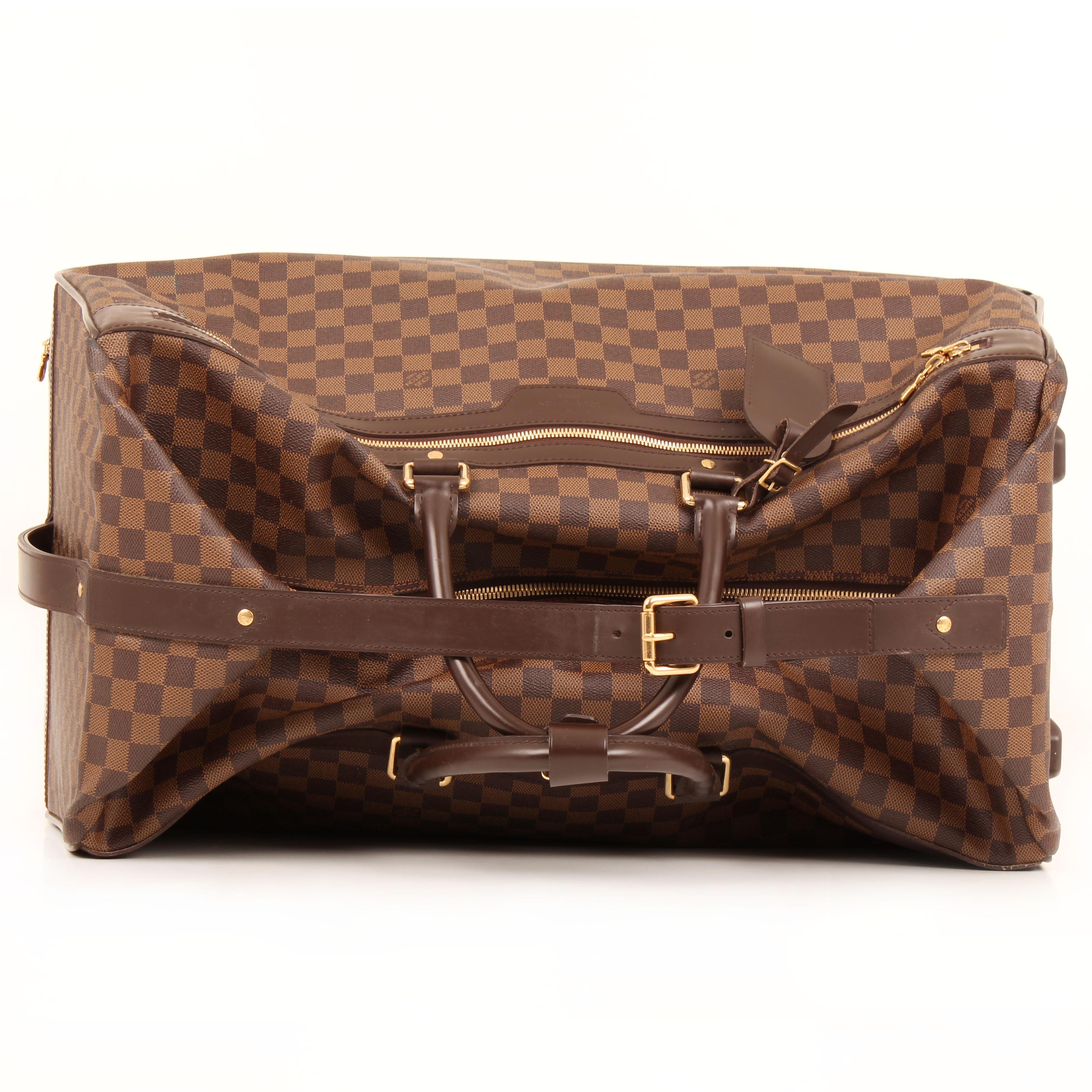 louis vuitton bolsa de viaje eole rolling luggage damier ebene cremallera