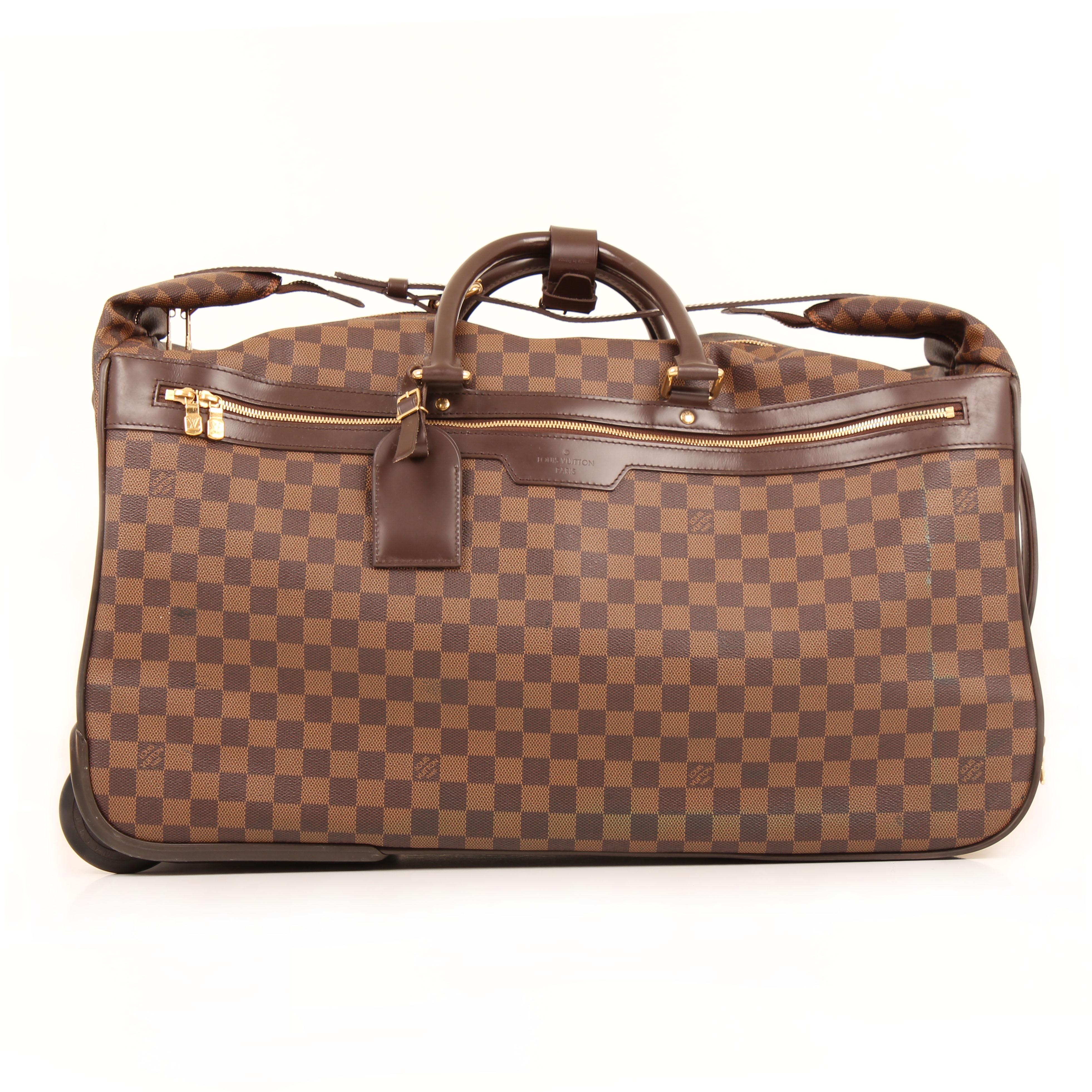 louis vuitton bolsa de viaje eole rolling luggage damier ebene frontal