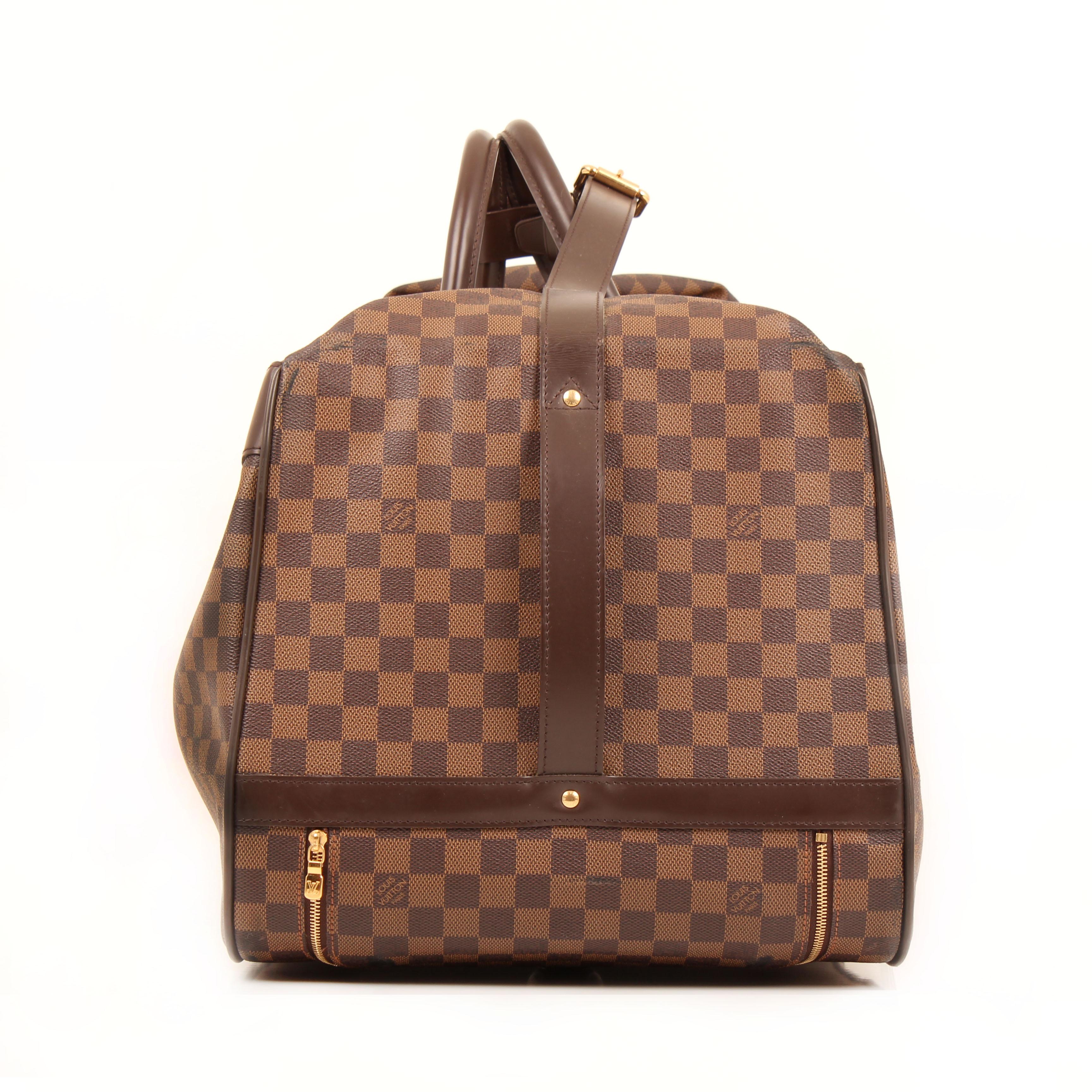 louis vuitton bolsa de viaje eole rolling luggage damier ebene lateral