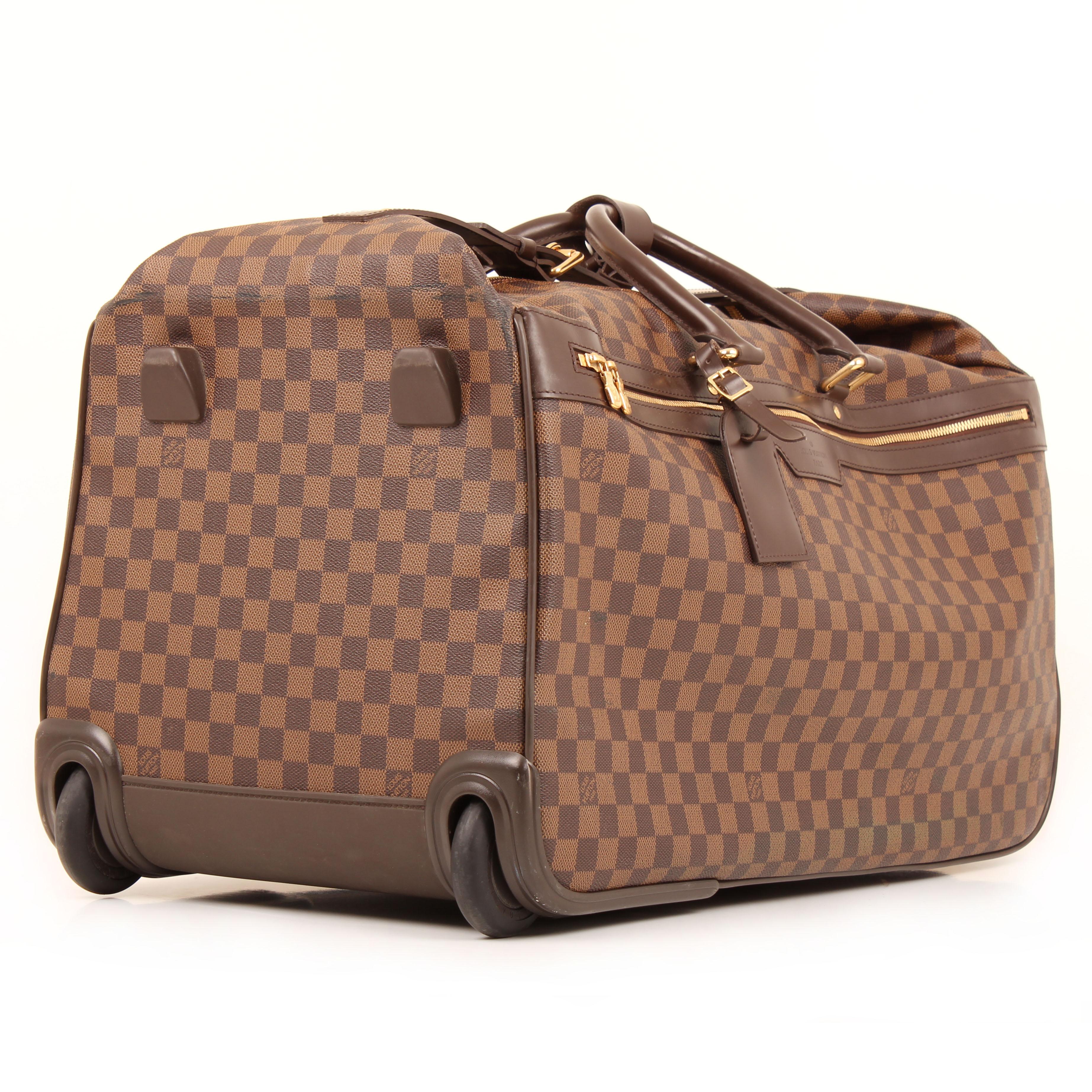 louis vuitton bolsa de viaje eole rolling luggage damier ebene ruedas