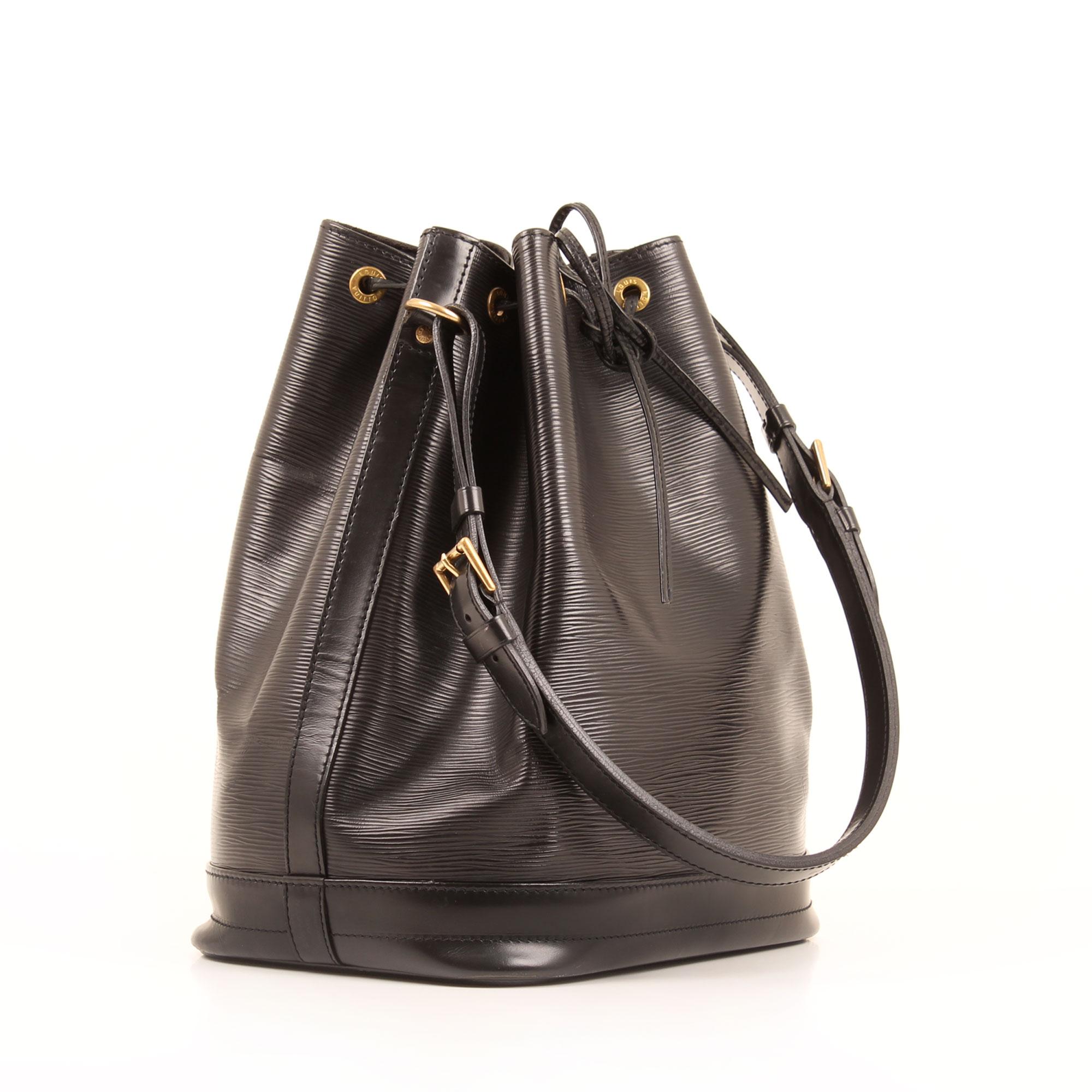 General image of louis vuitton noe black epi leather bag