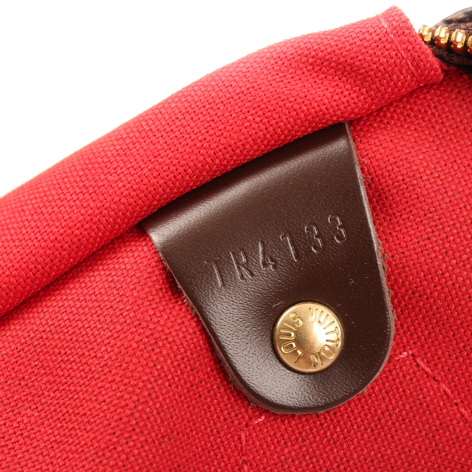 Imagen del serial del bolso louis vuitton speedy 35 bandolera damier ebene