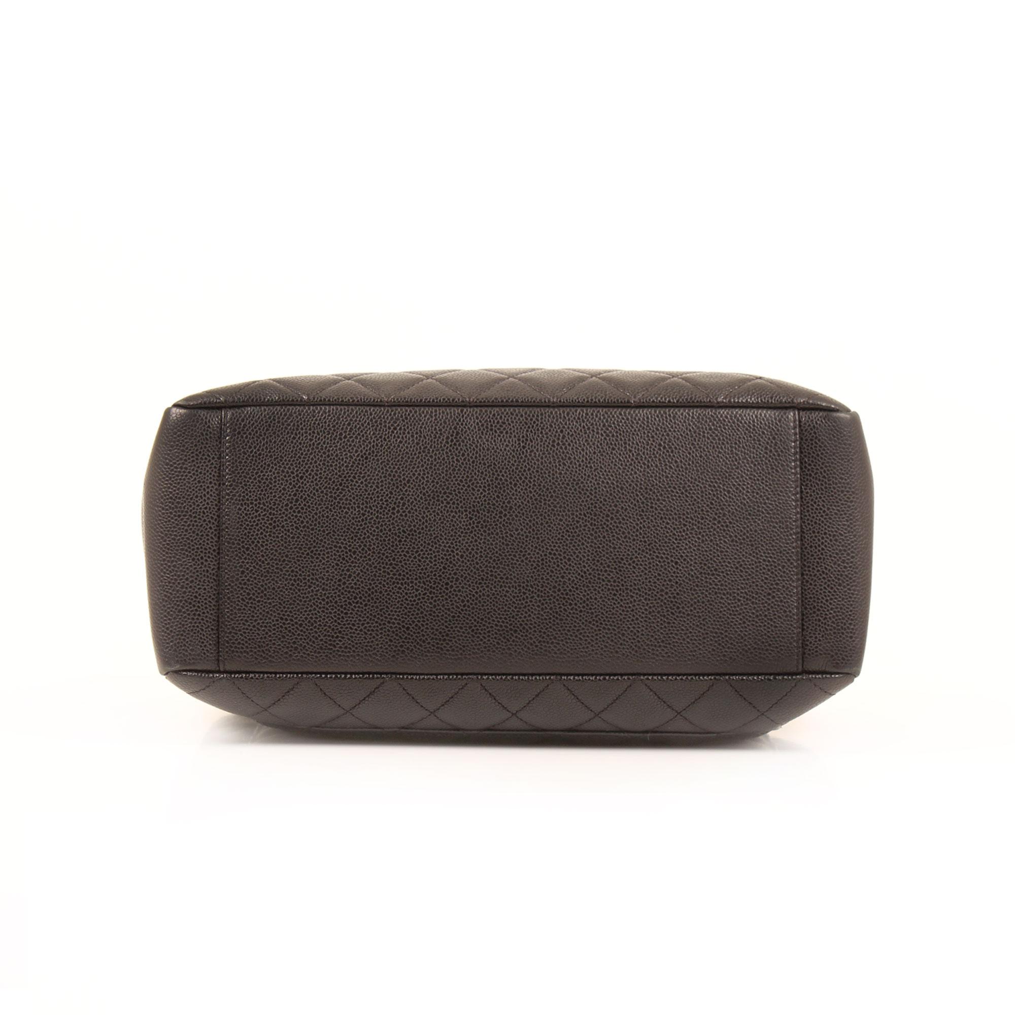 Base image of chanel grand shopping tote bag black caviar